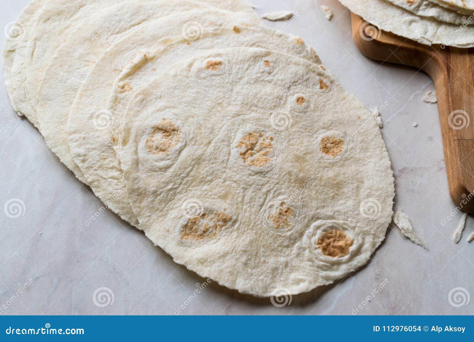 Homemade Mexican Tortillas for Tostada
