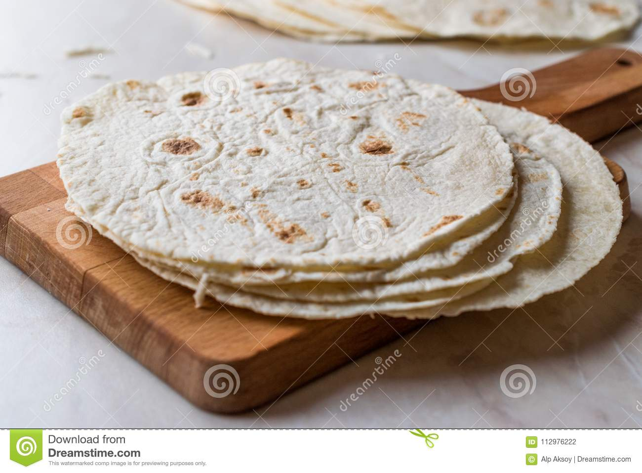 Homemade Mexican Tortillas for Tostada