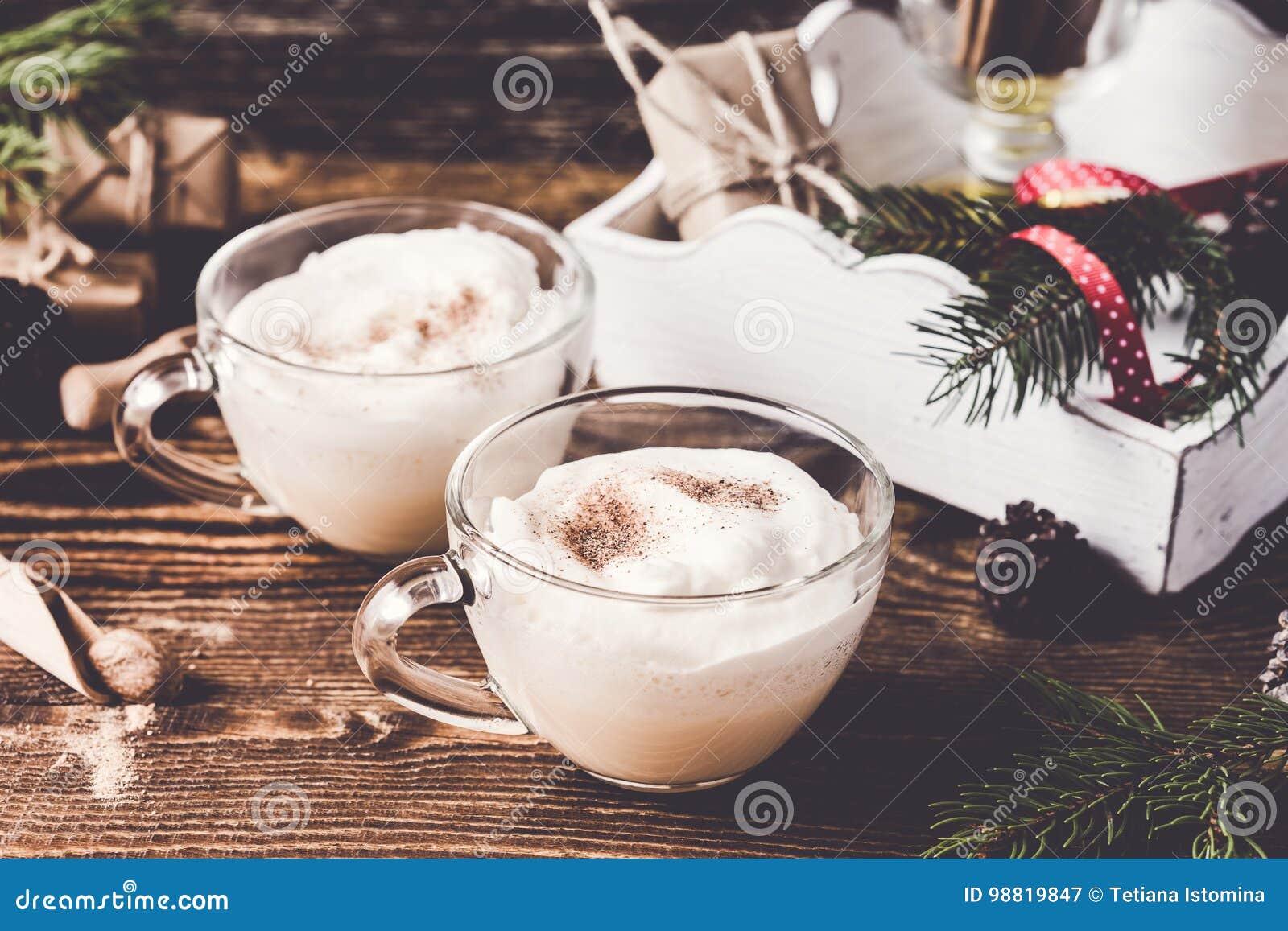 Christmas holiday spicy milkshakes drink