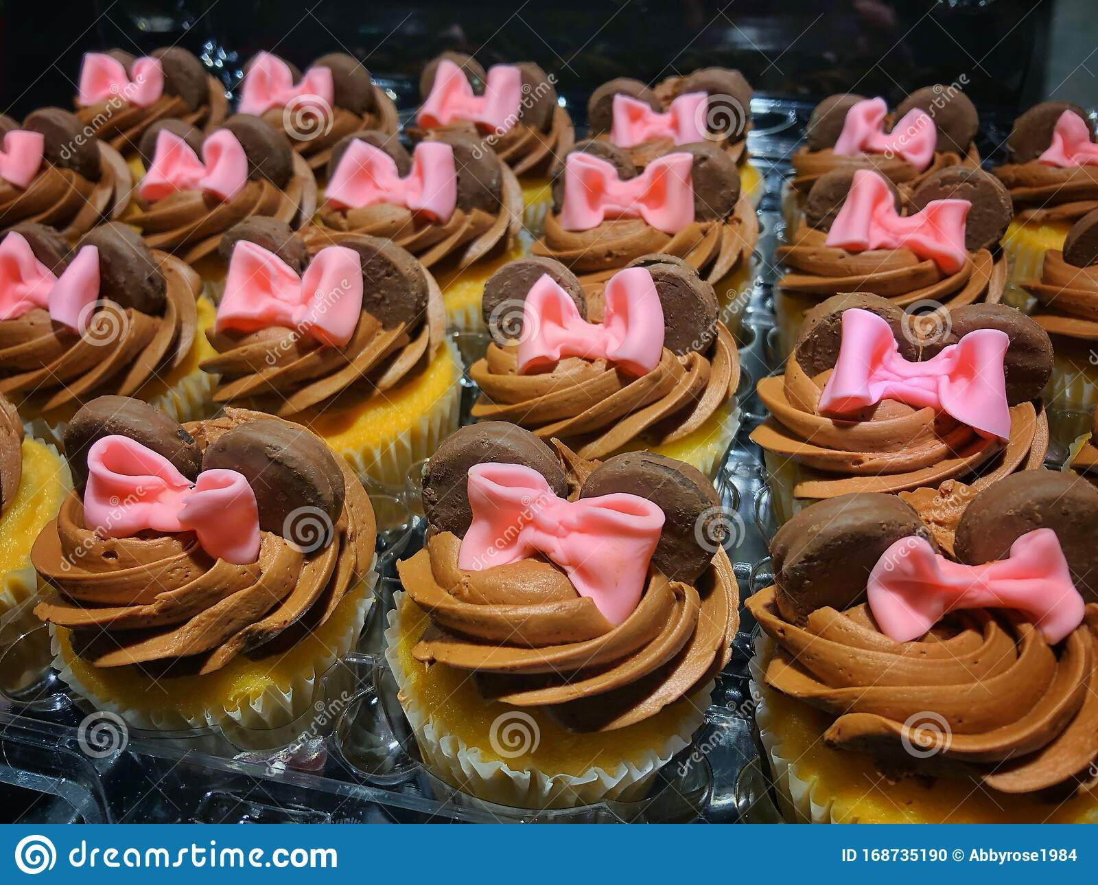 Fantastic Homemade Minnie Mouse Cupcakes Stock Photo Image Of Fondant Funny Birthday Cards Online Alyptdamsfinfo