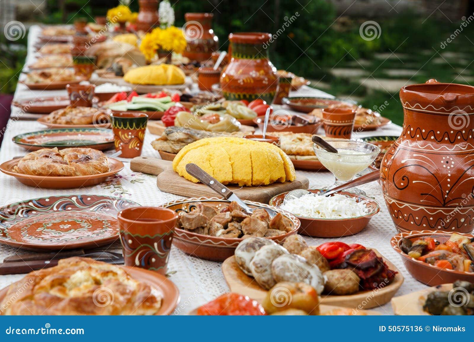 Full of food