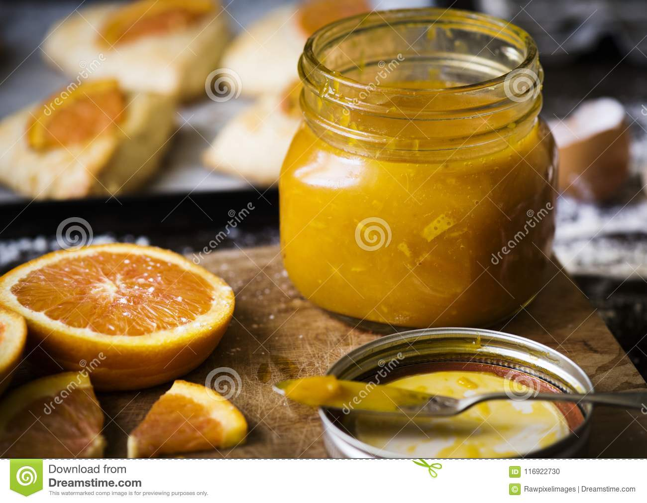 Homemade orange marmalade food photography recipe idea