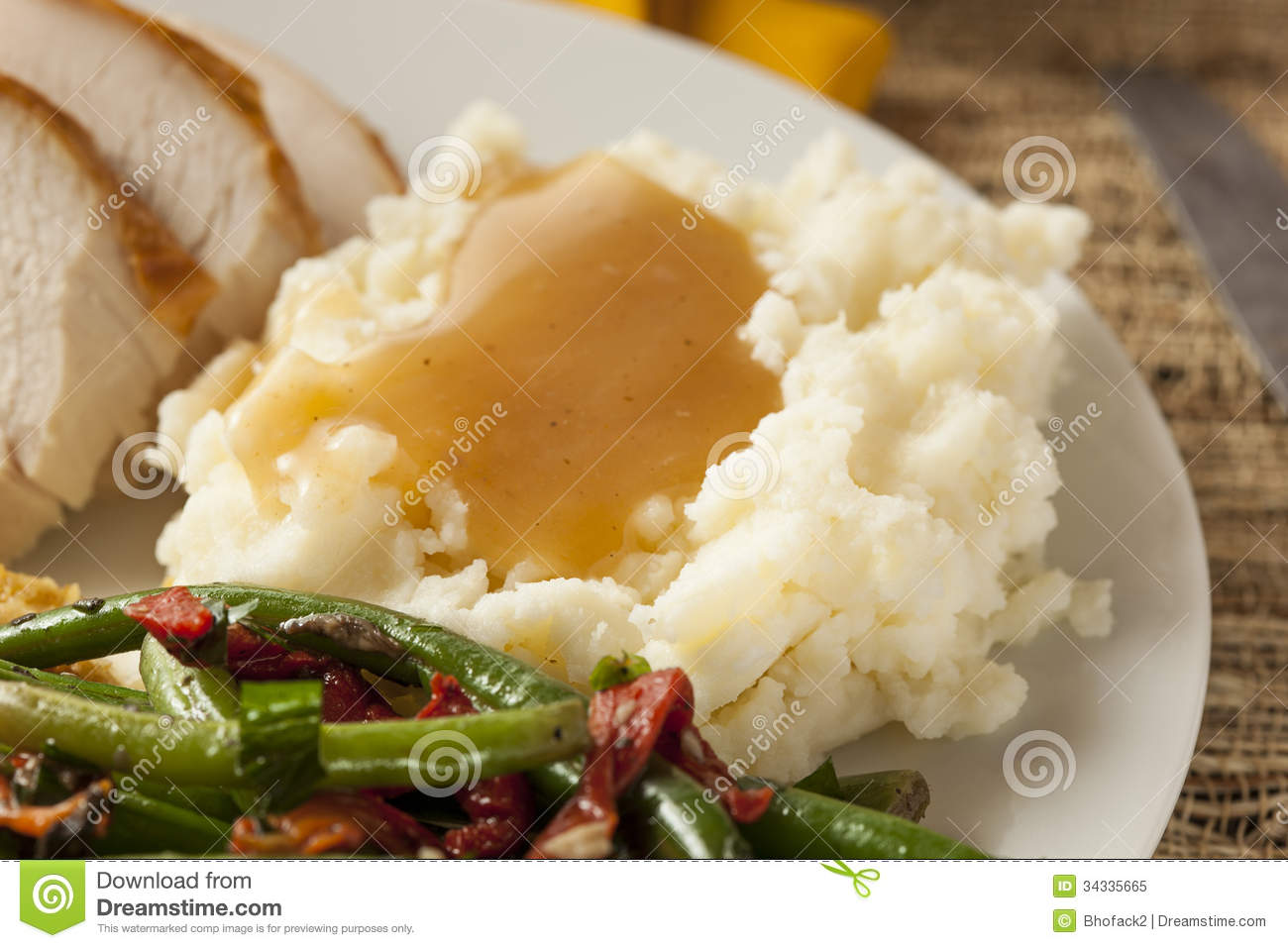 mashed potatoes and gravy organic mashed potatoes with gravy royalty free 31299