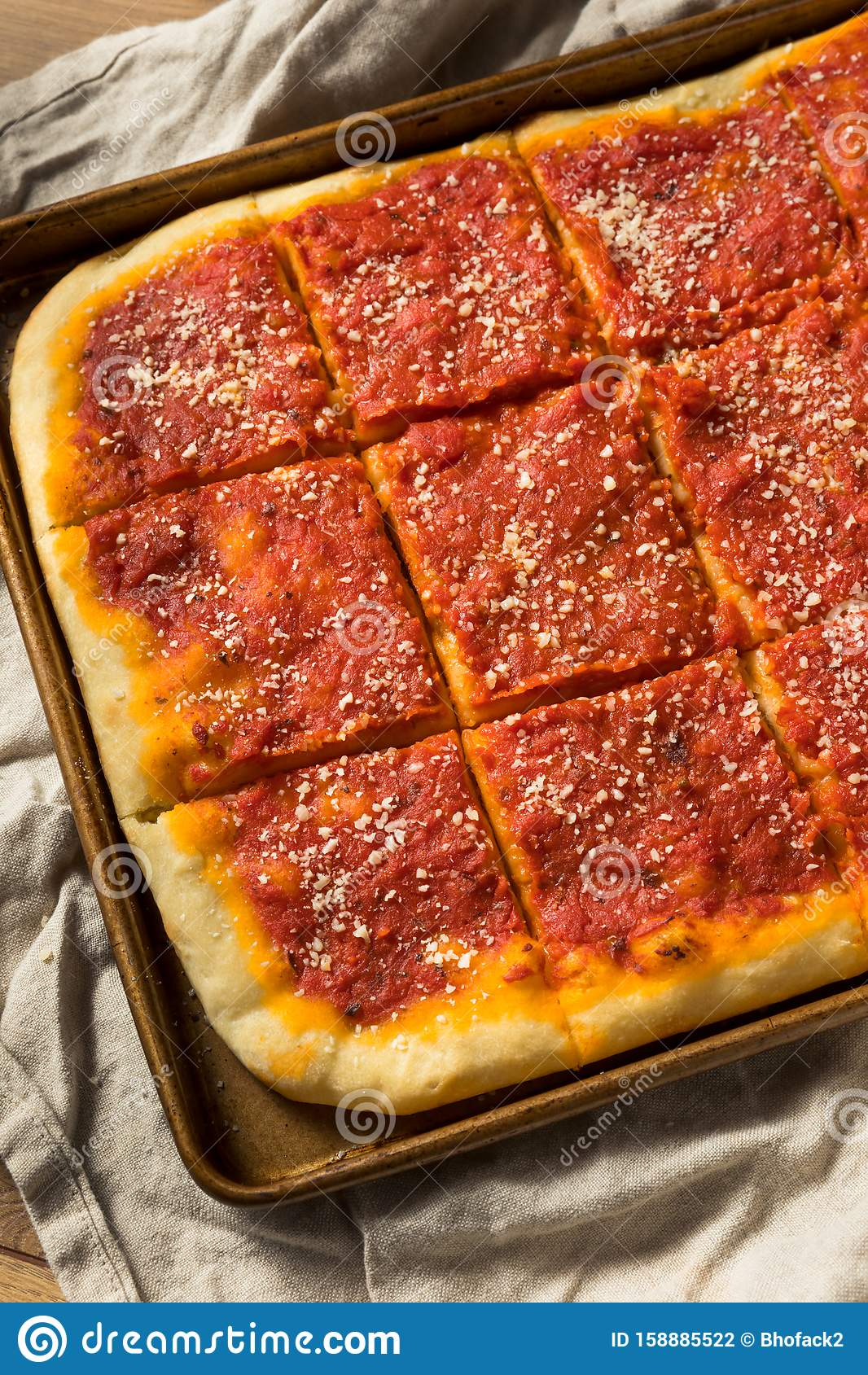 Homemade Philadelphia Tomato Pie Stock Photo Image Of Dinner Sauce 158885522