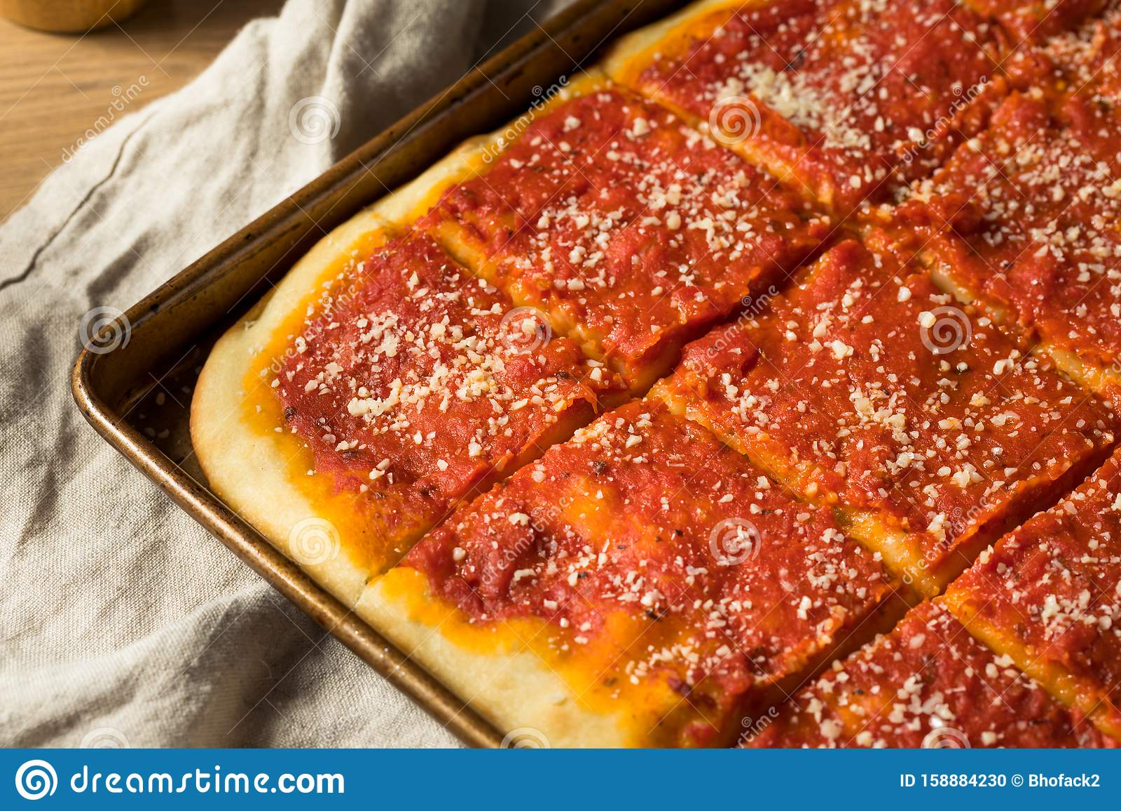 Homemade Philadelphia Tomato Pie Stock Photo Image Of Restaurant Traditional 158884230