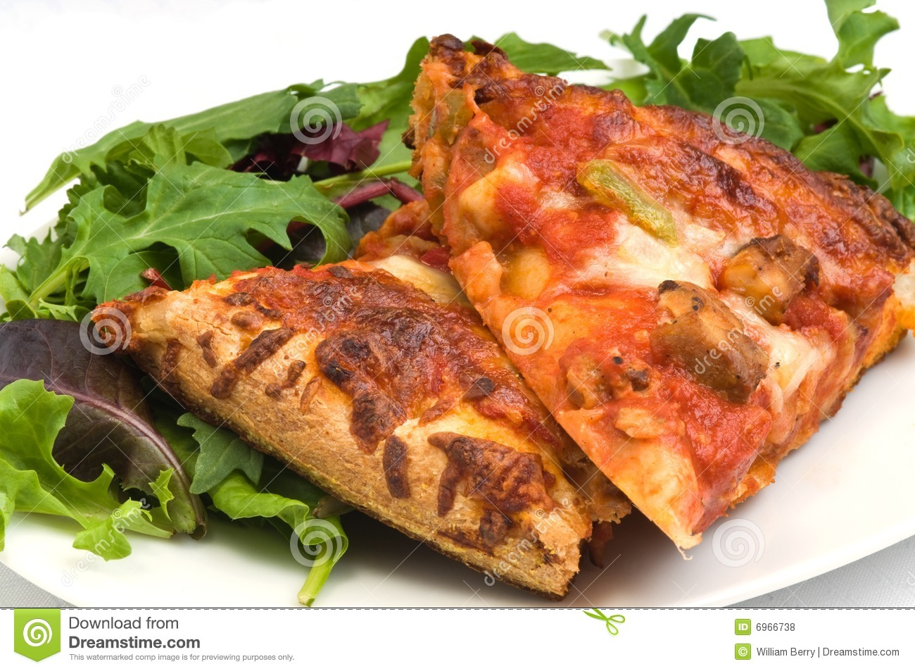 Homemade Pizza And Salad Royalty Free Stock Photos - Image: 6966738