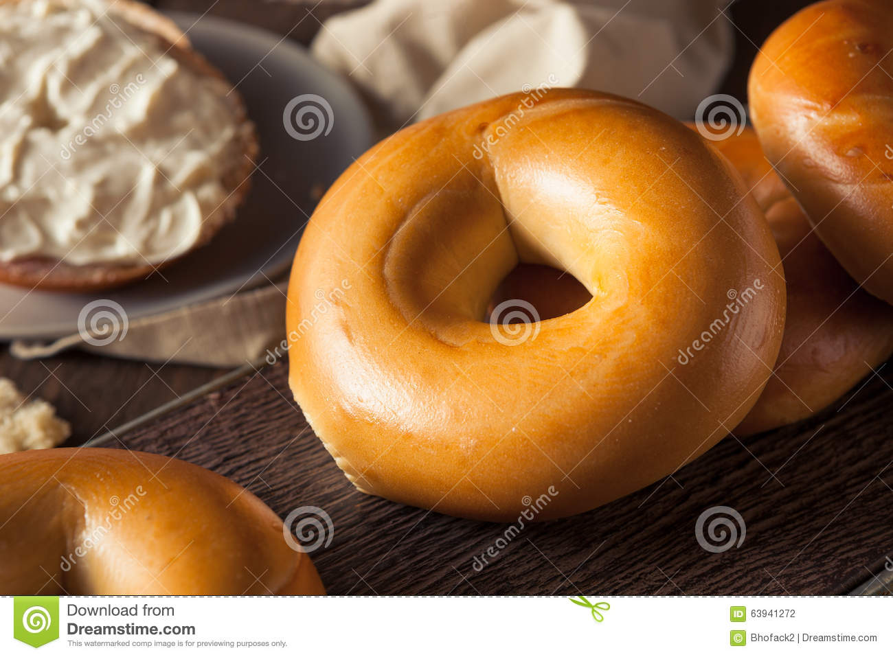 Homemade Plain Egg Bagels Stock PhotoImage63941272