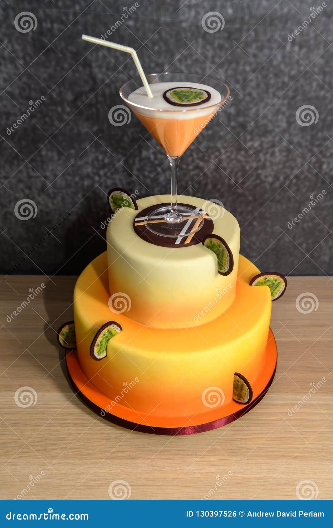 Pleasant Homemade Pornstar Cocktail Cake Stock Photo Image Of Beverage Birthday Cards Printable Inklcafe Filternl