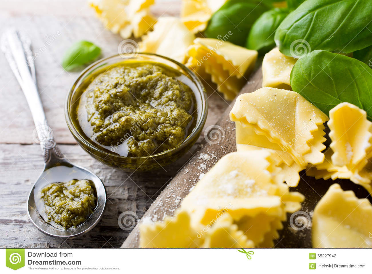 Italian green ravioli filled with ricotta cheese and for Green italy
