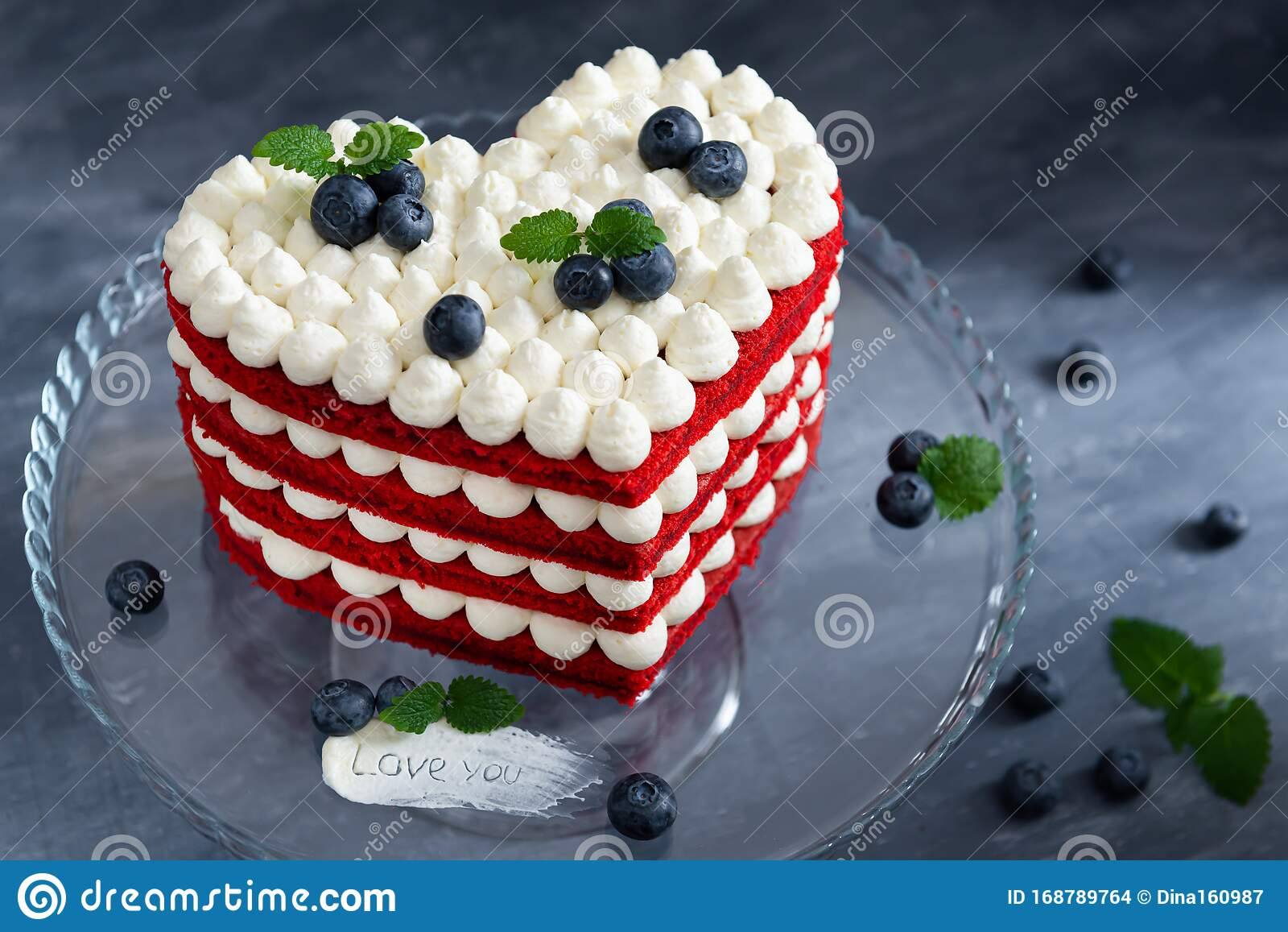 Homemade Red Velvet Cake In Heart Shape ...