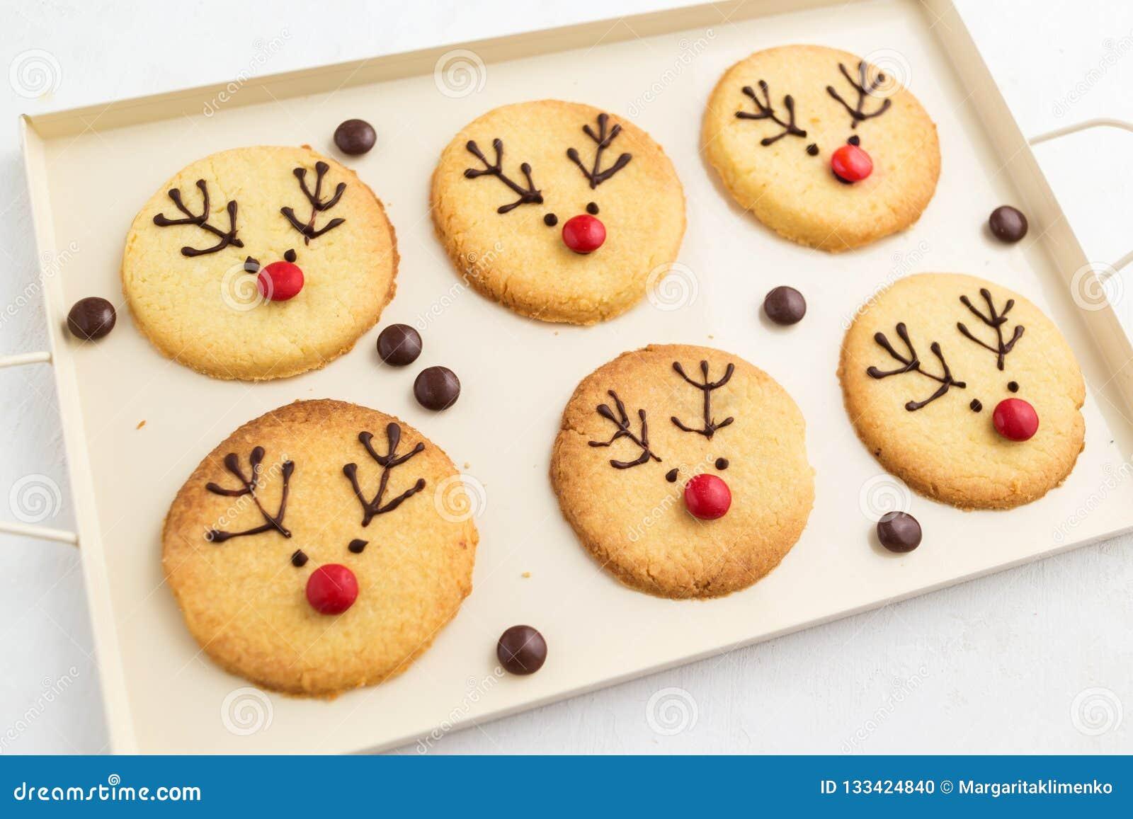 Homemade Reindeer Cookies Stock Photo Image Of Holiday 133424840