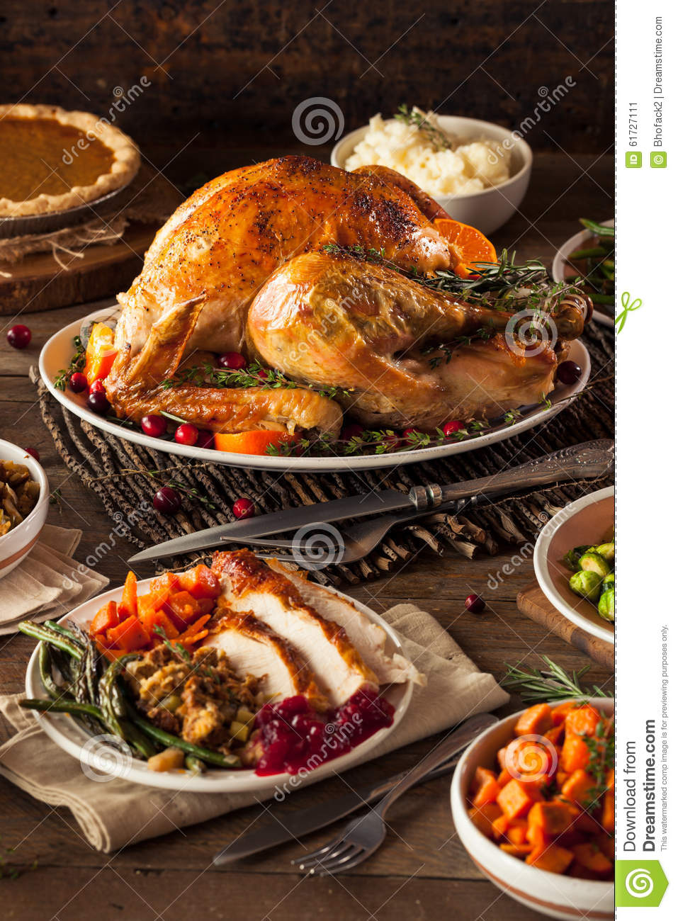 Turkey Day Hercules Style: Homemade Roasted Thanksgiving Day Turkey Royalty-Free