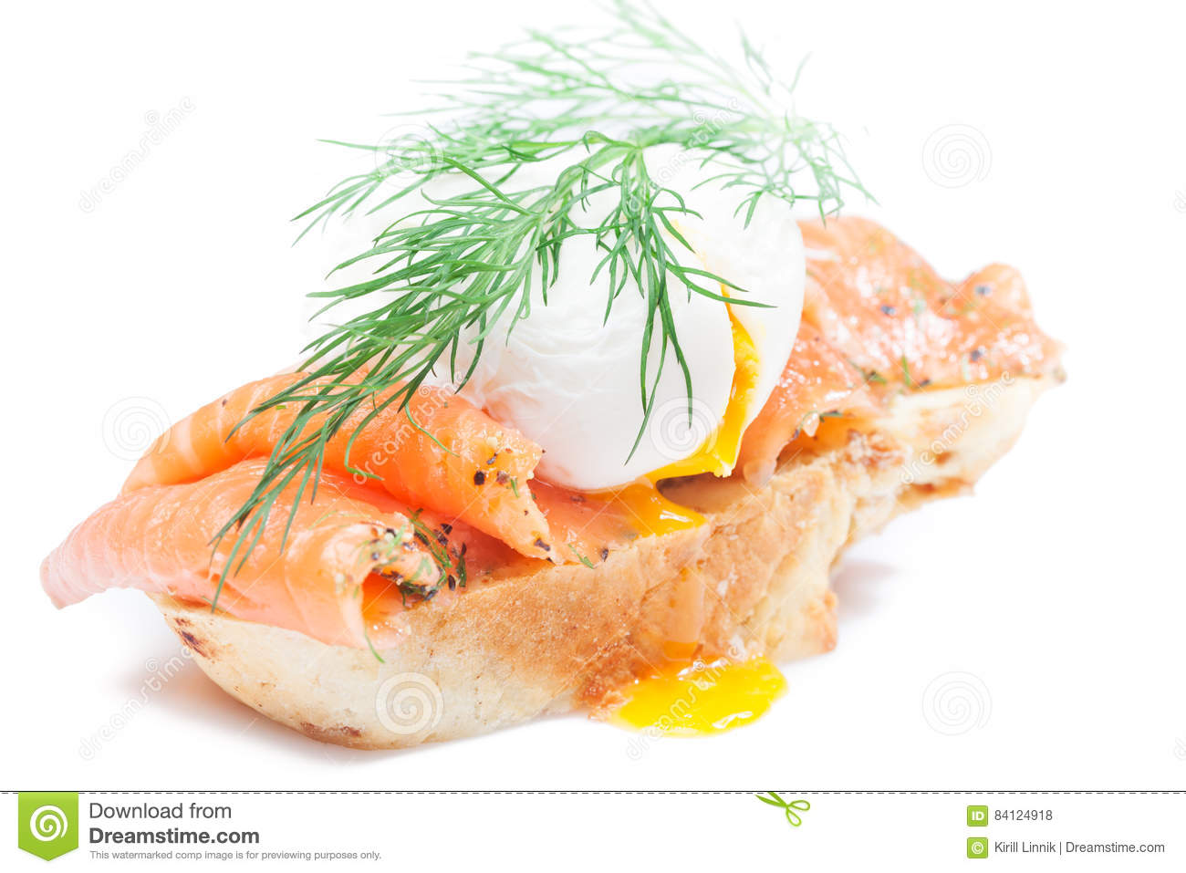 Download Homemade Sandwich With Salmon Stock Photo - Image of english, healthy: 84124918