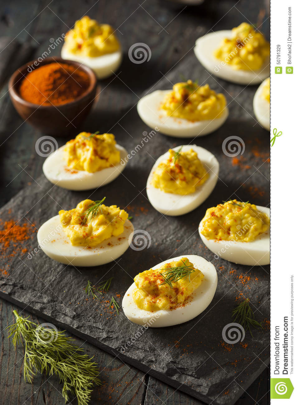 Spicy Deviled Eggs Royalty-Free Stock Photography | CartoonDealer.com #56984033