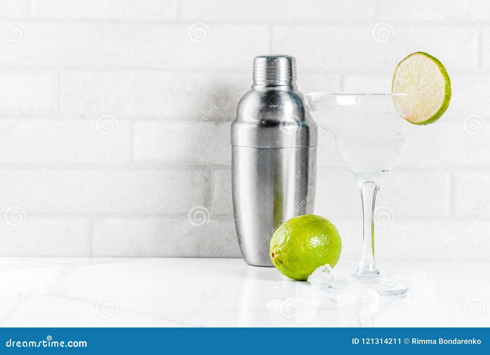 Homemade summer refreshment drink, lime and lemon margarita coc