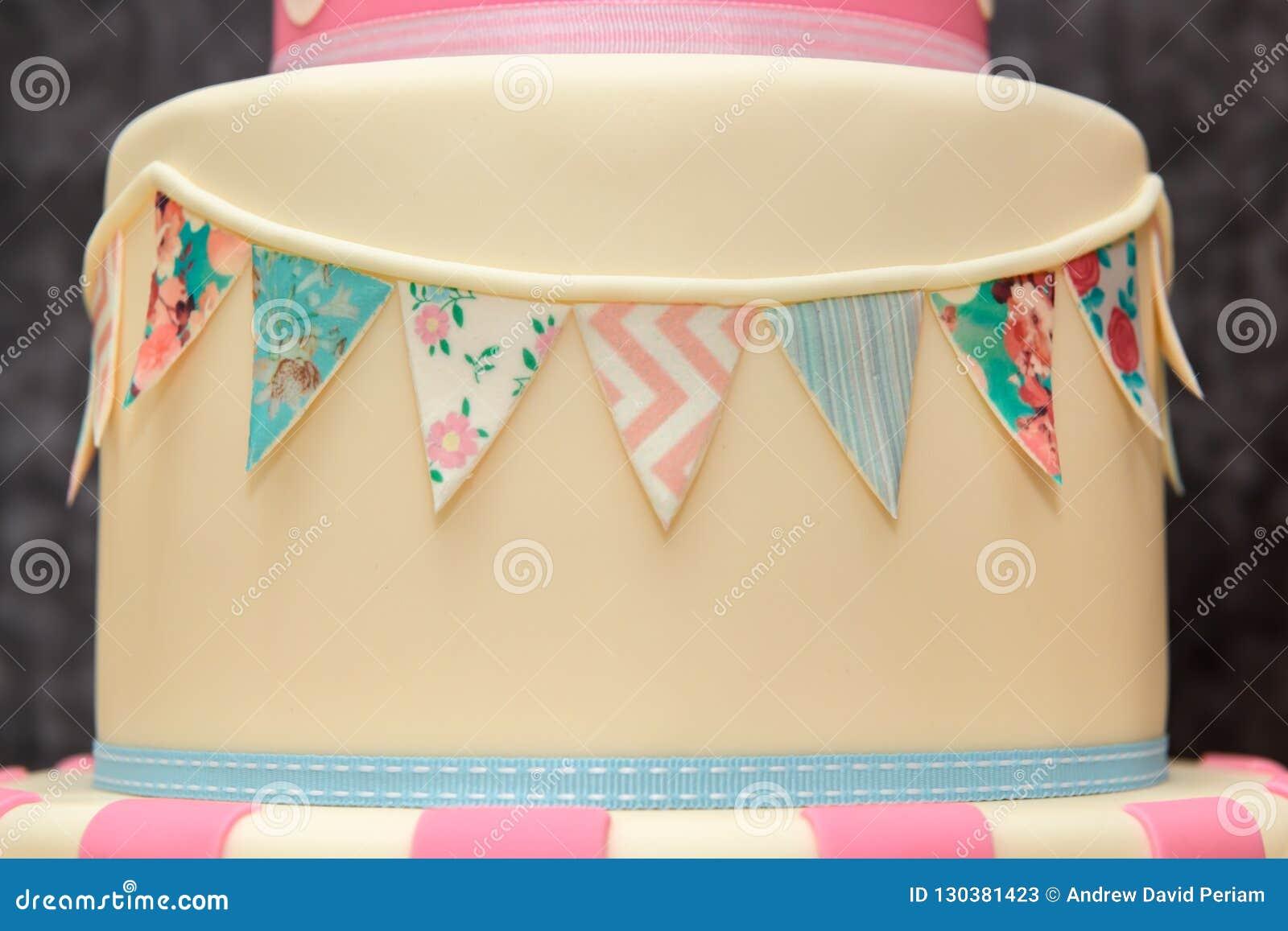 Superb 3 Tier Birthday Cake Stock Image Image Of Event Design 130381423 Funny Birthday Cards Online Chimdamsfinfo