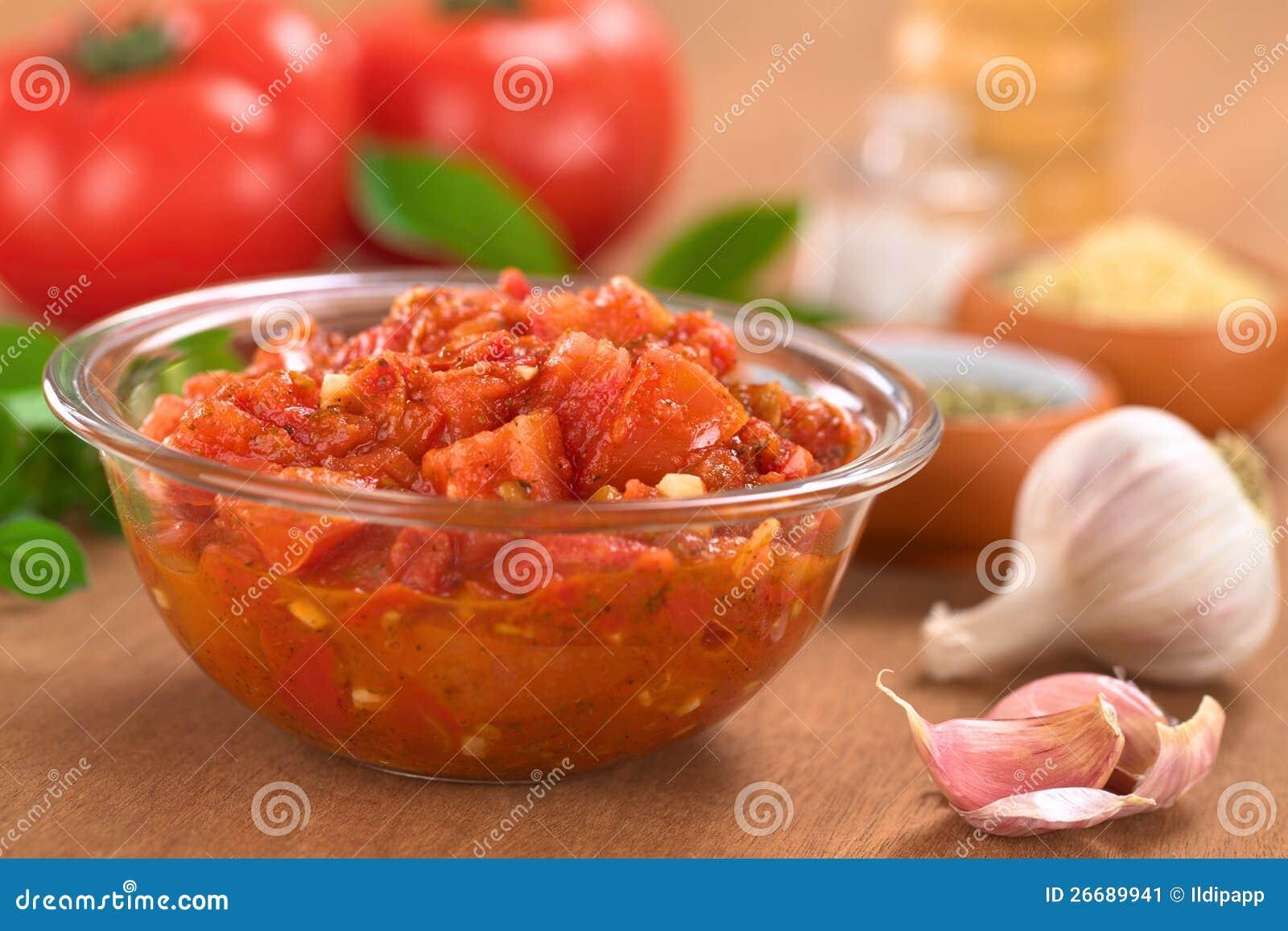 Homemade Tomato Sauce Stock Image Image 26689941