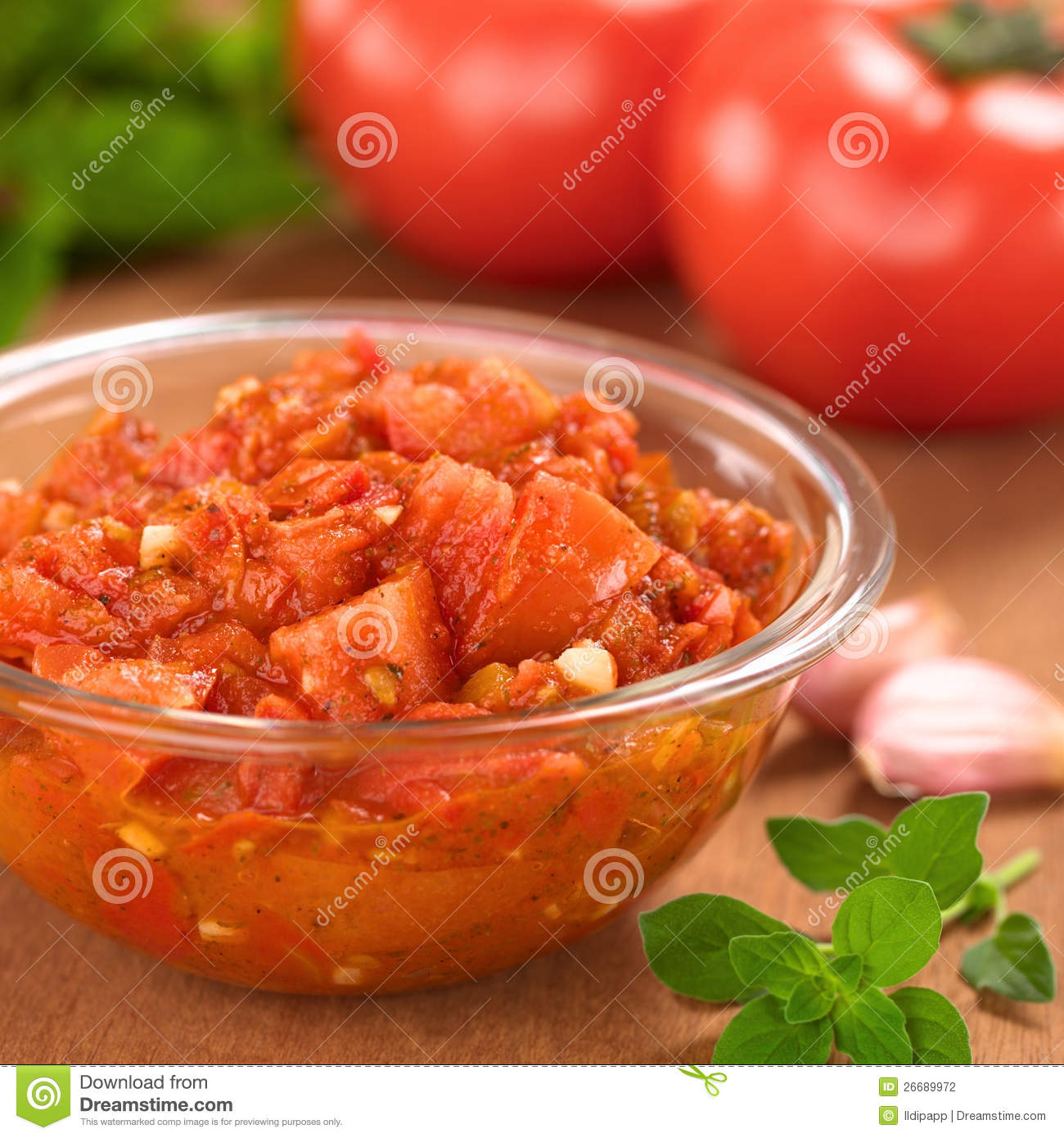 Homemade Tomato Sauce Stock Photography Image 26689972