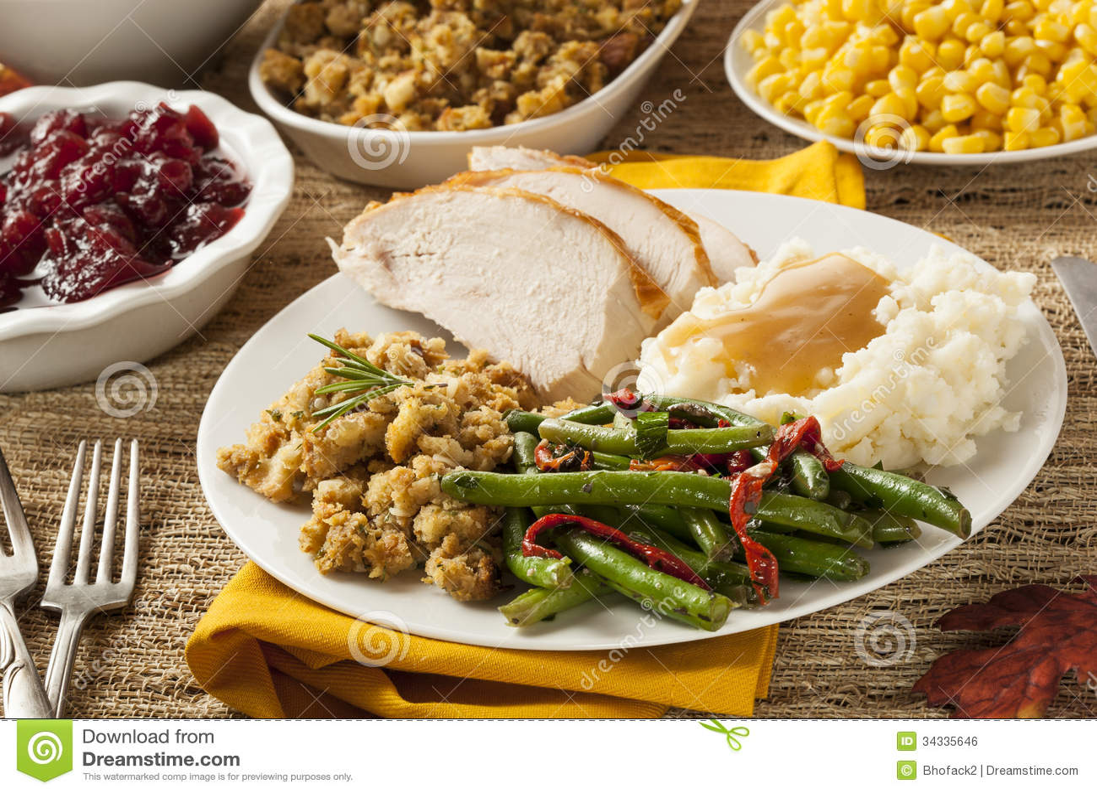Homemade turkey thanksgiving dinner royalty free stock for What to have for thanksgiving dinner