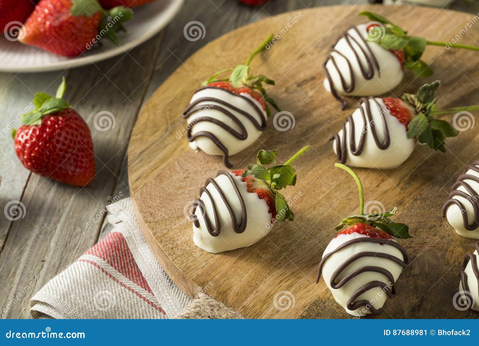 Homemade White Chocolate Covered Strawberries