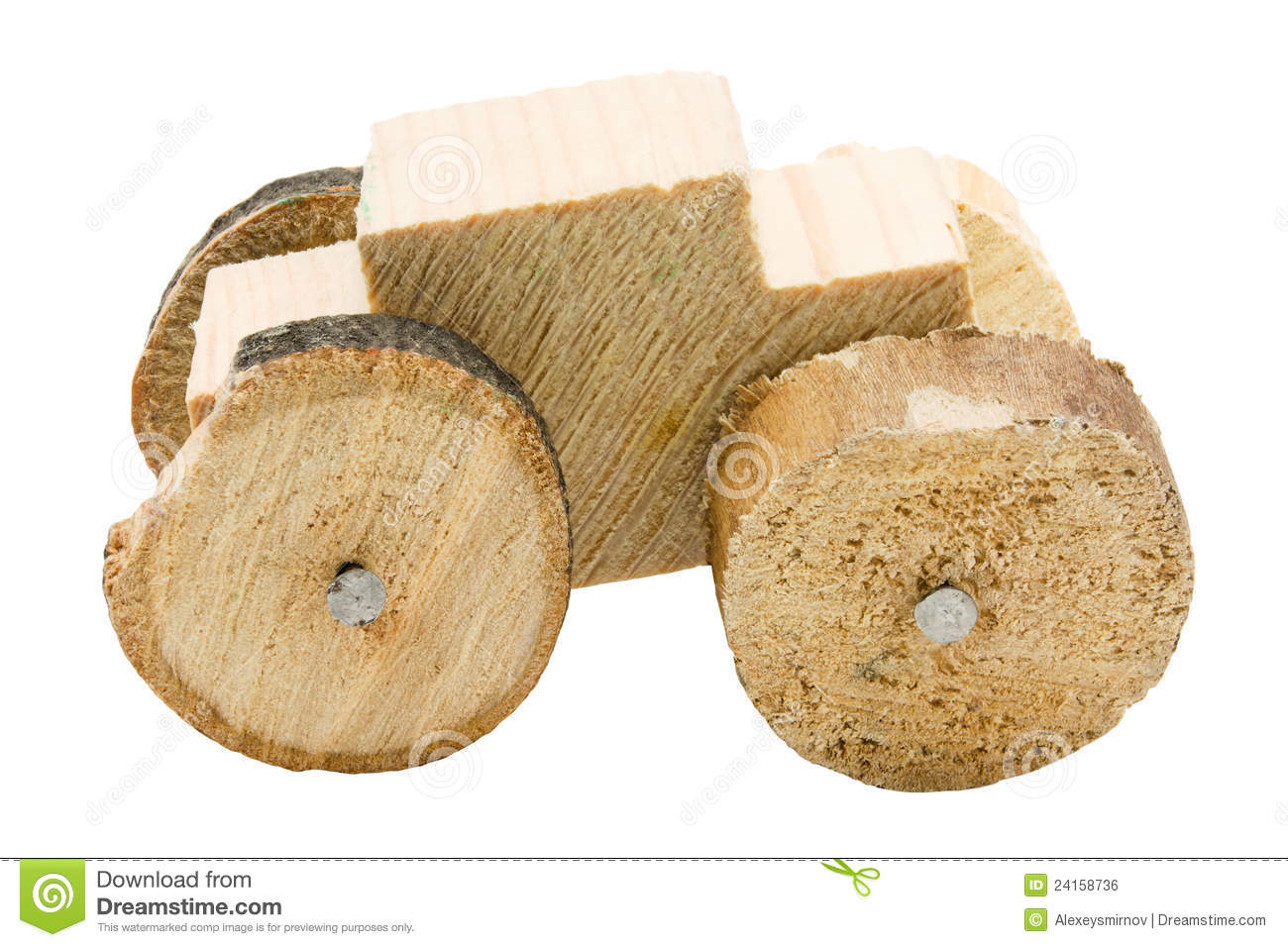 Homemade Wooden Car Toy Royalty Free Stock Image - Image: 24158736