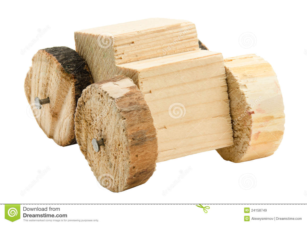 Homemade Wooden Car Toy Royalty Free Stock Images - Image: 24158749