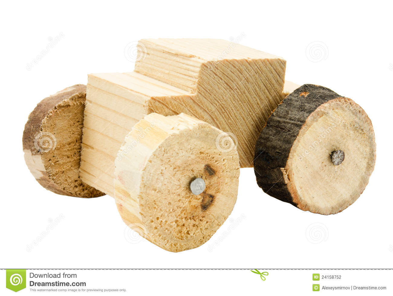 Homemade Wooden Car Toy Stock Photography - Image: 24158752