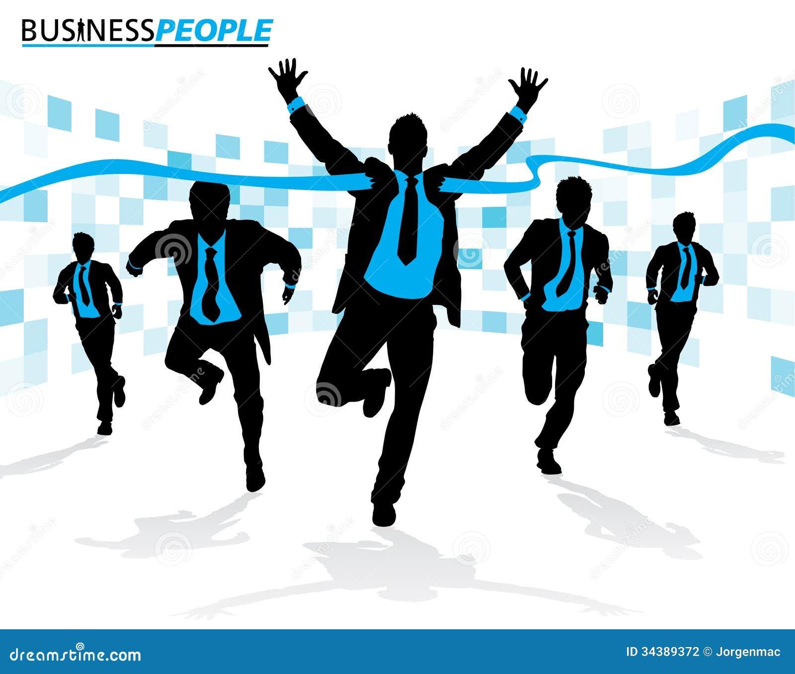 Homens de negócio na raça da carreira
