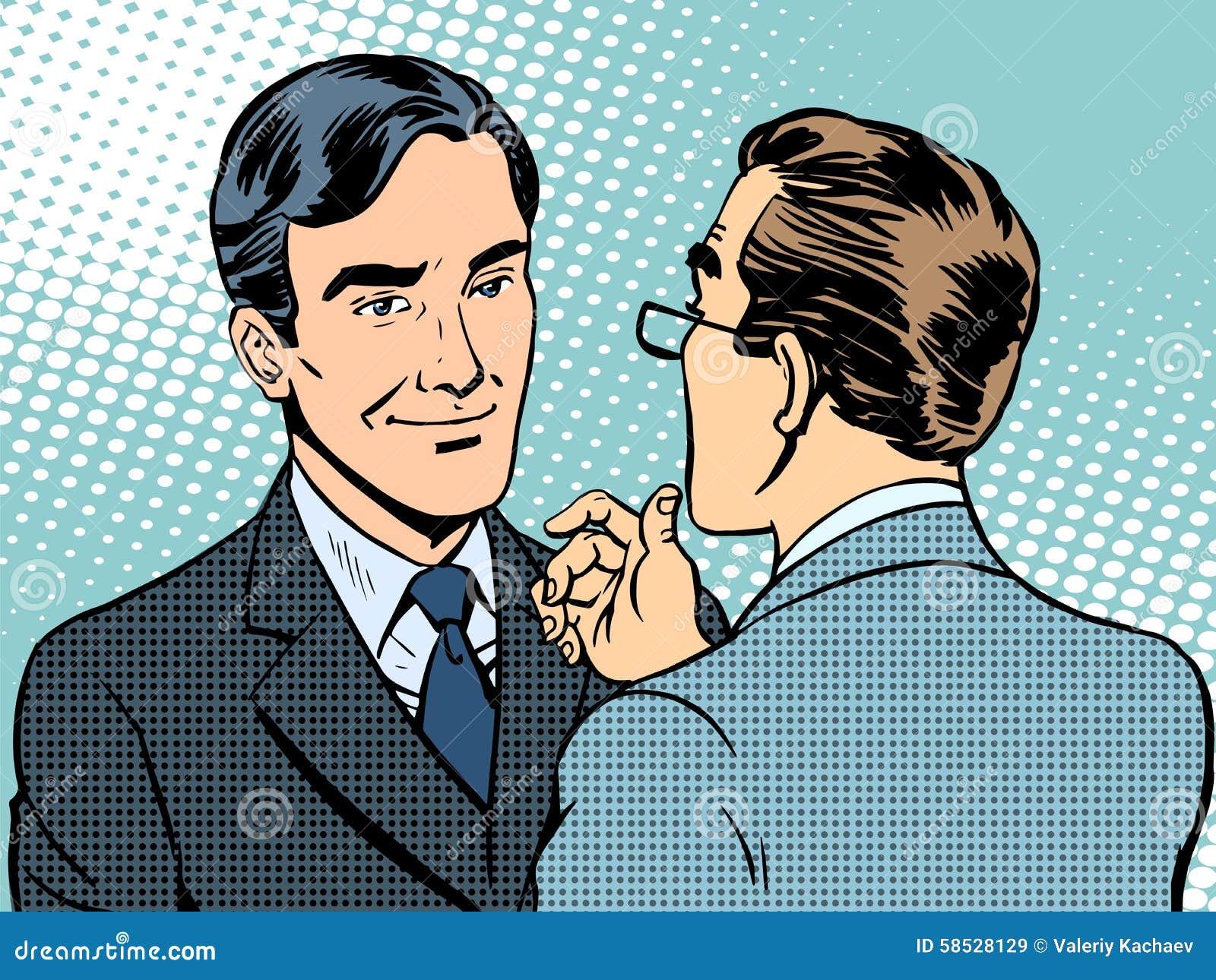 Homens de negócios da conversação do diálogo