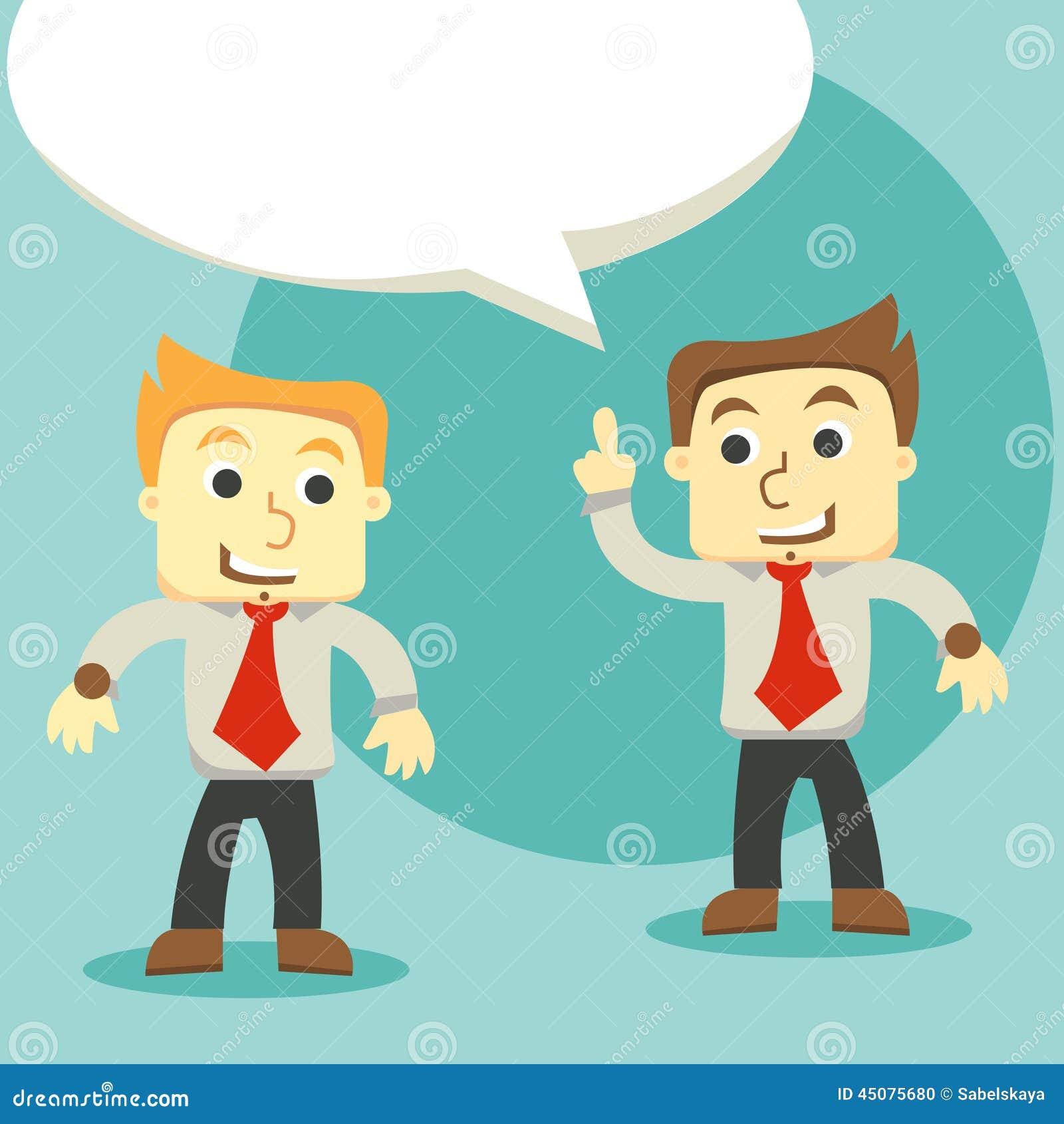 Homens de negócios do diálogo, dois homens de negócios que discutem