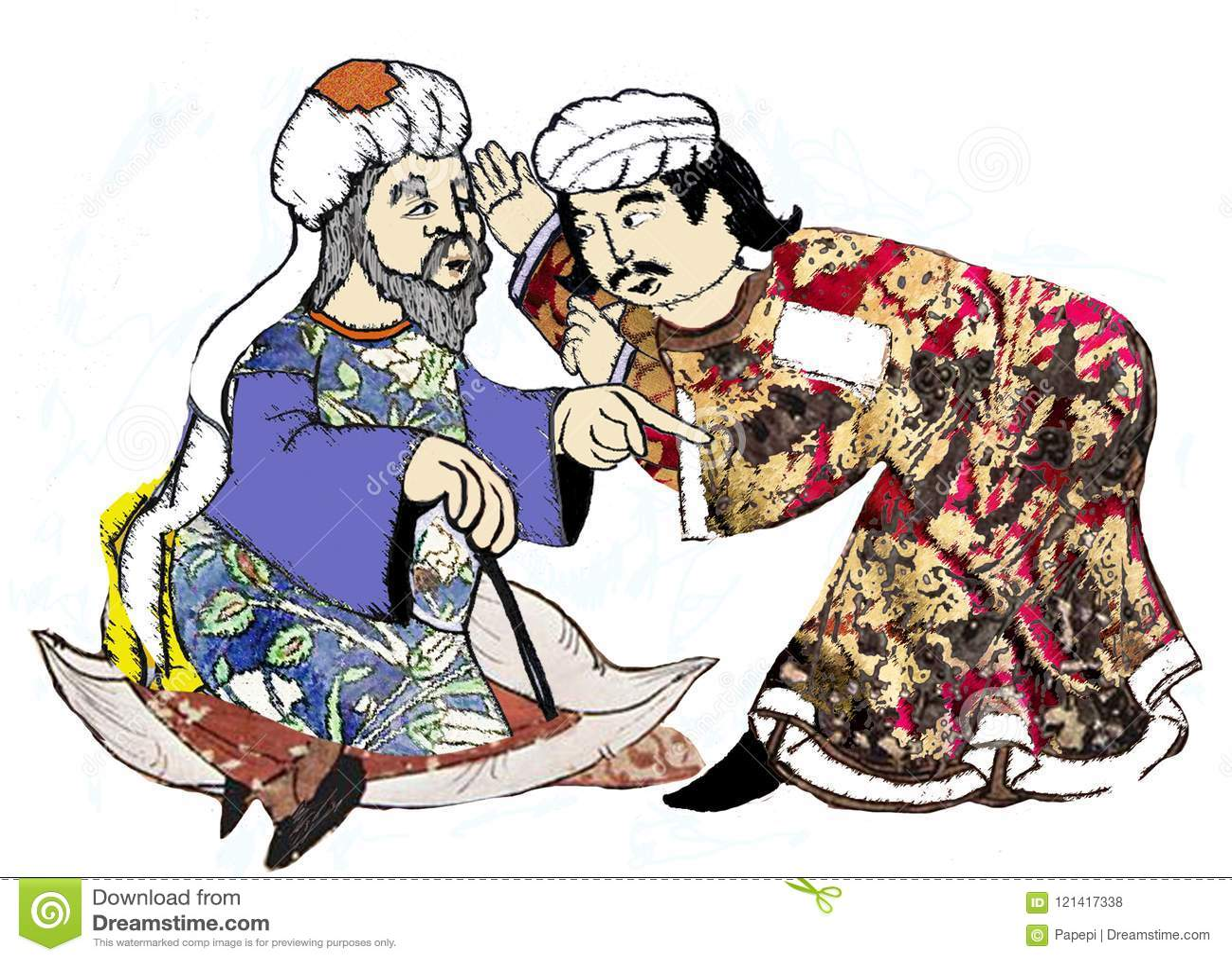 Homens De Siria Reproposed Por Desenhos Antigos Ilustracao Stock