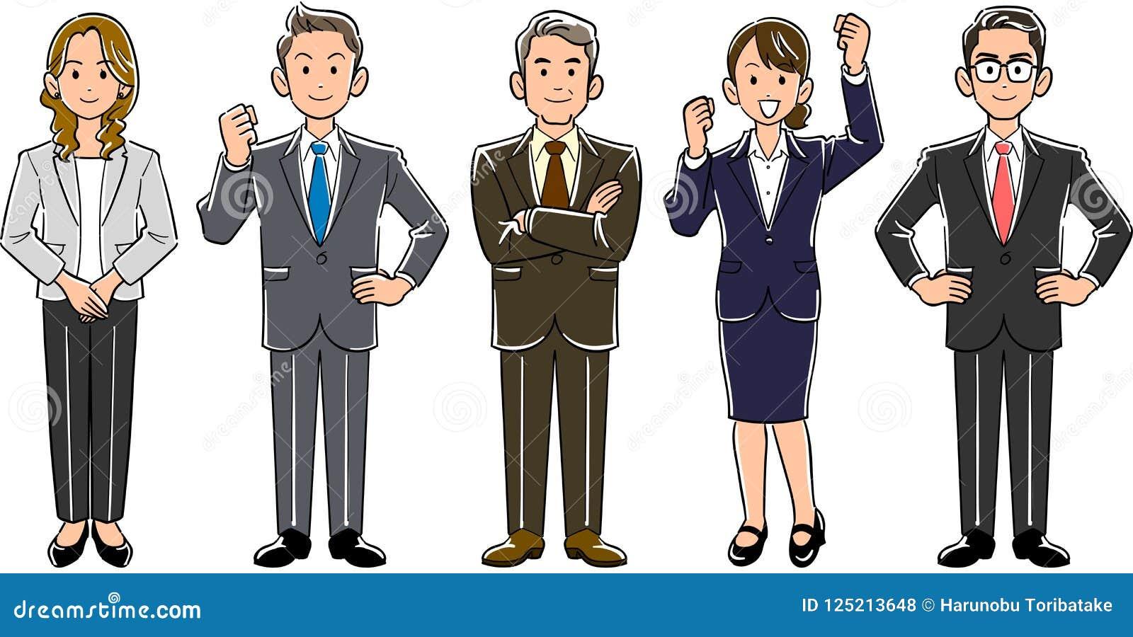 Homens e mulheres da equipe do negócio