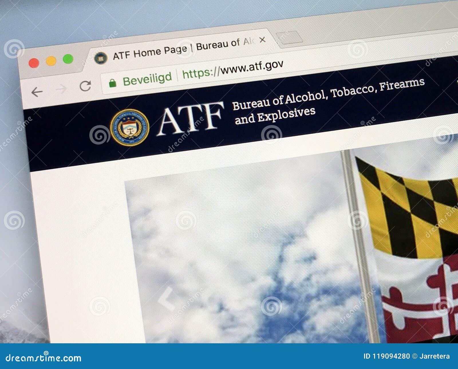 Homeopage biuro alkohol, tytoń, bronie palne i środki wybuchowi, - ATF