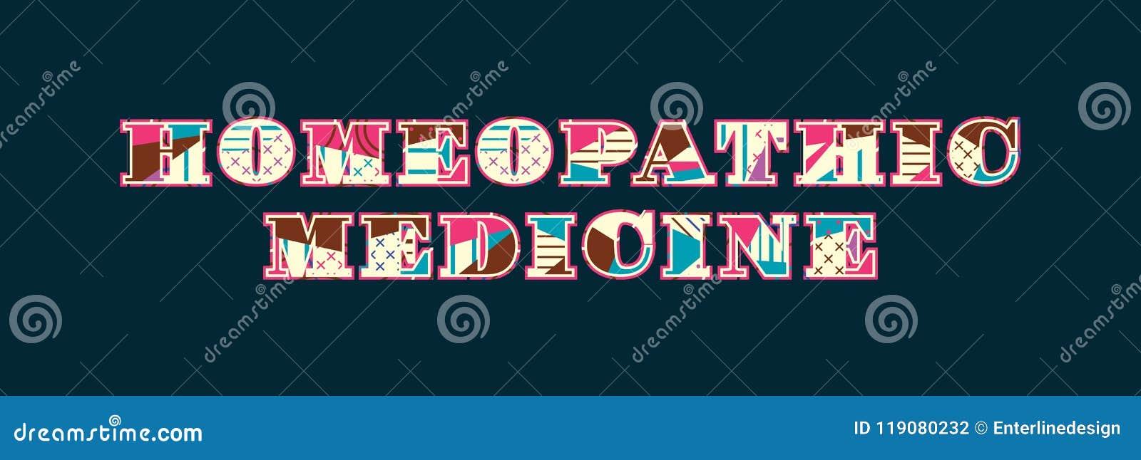 Homeopathic Medicine Concept Word Art Illustration Stock