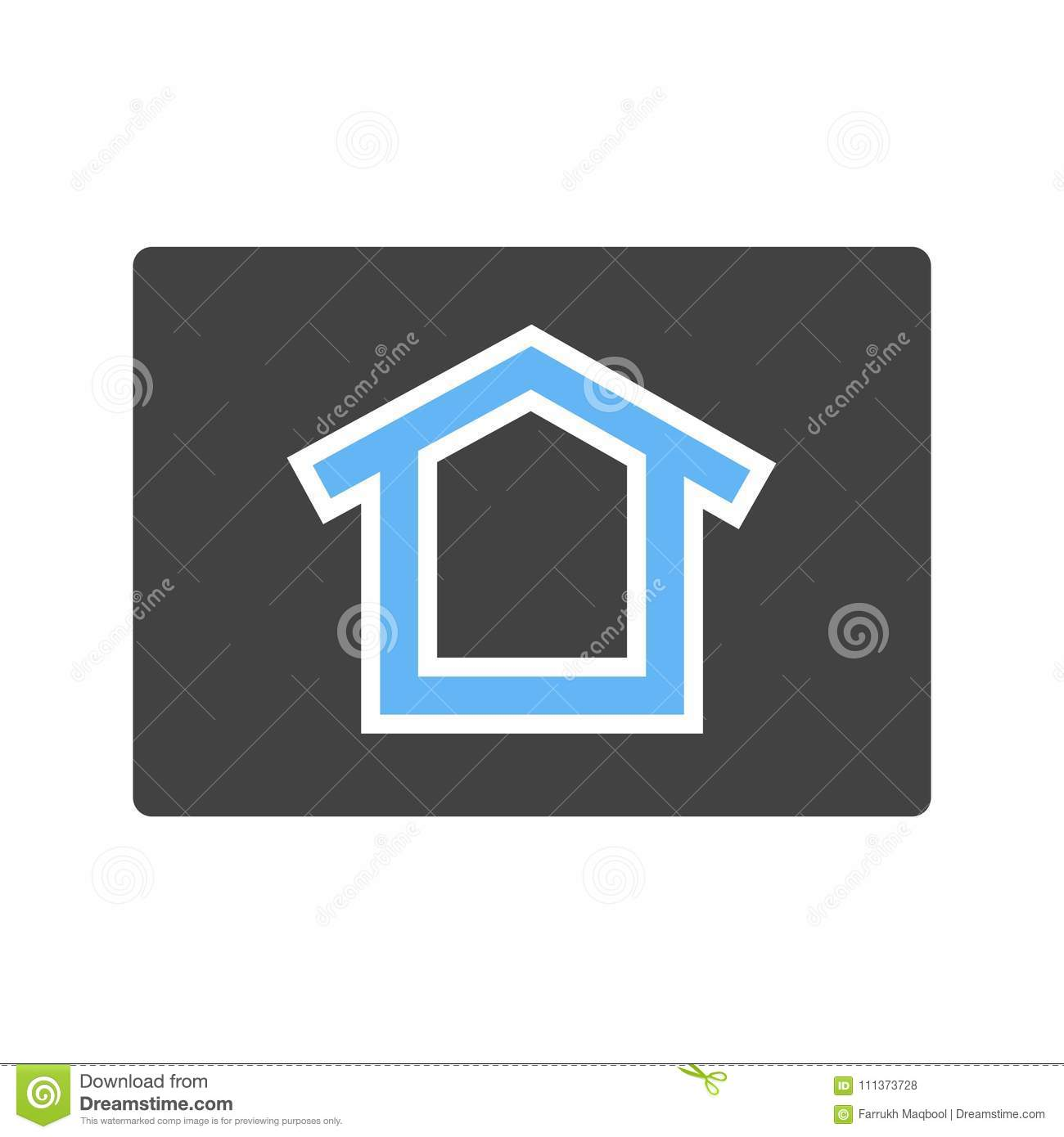 Homepage, connection icon stock vector  Illustration of page