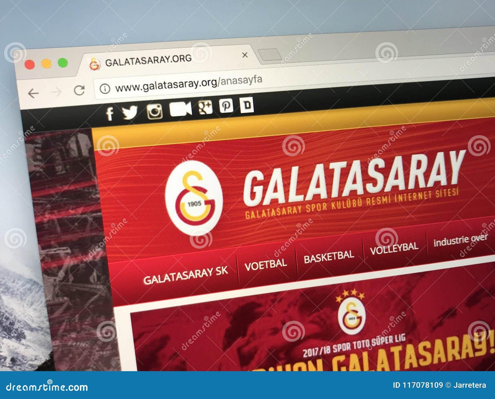 Homepage Of Galatasaray, A Turkish Football Club. Editorial Stock ...