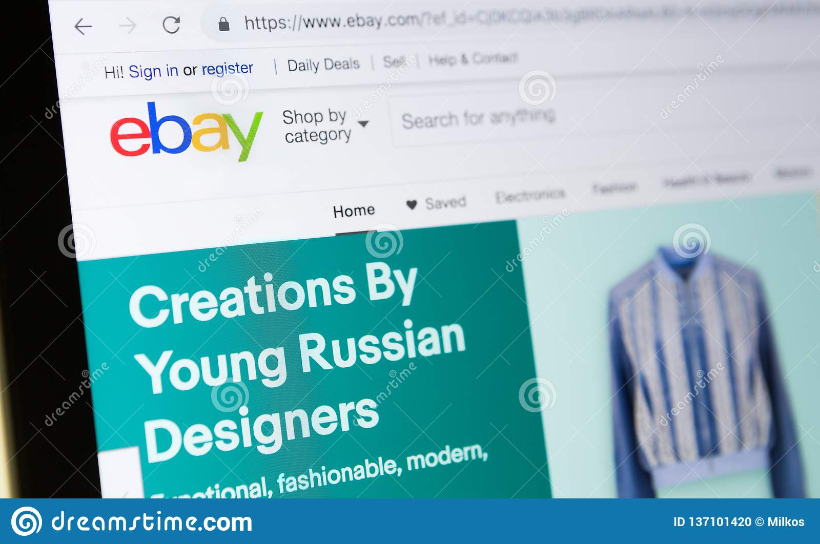 Homepage Of Official Website For Ebay Online Auction And Sales Website Editorial Image Image Of Goods Logo 137101420