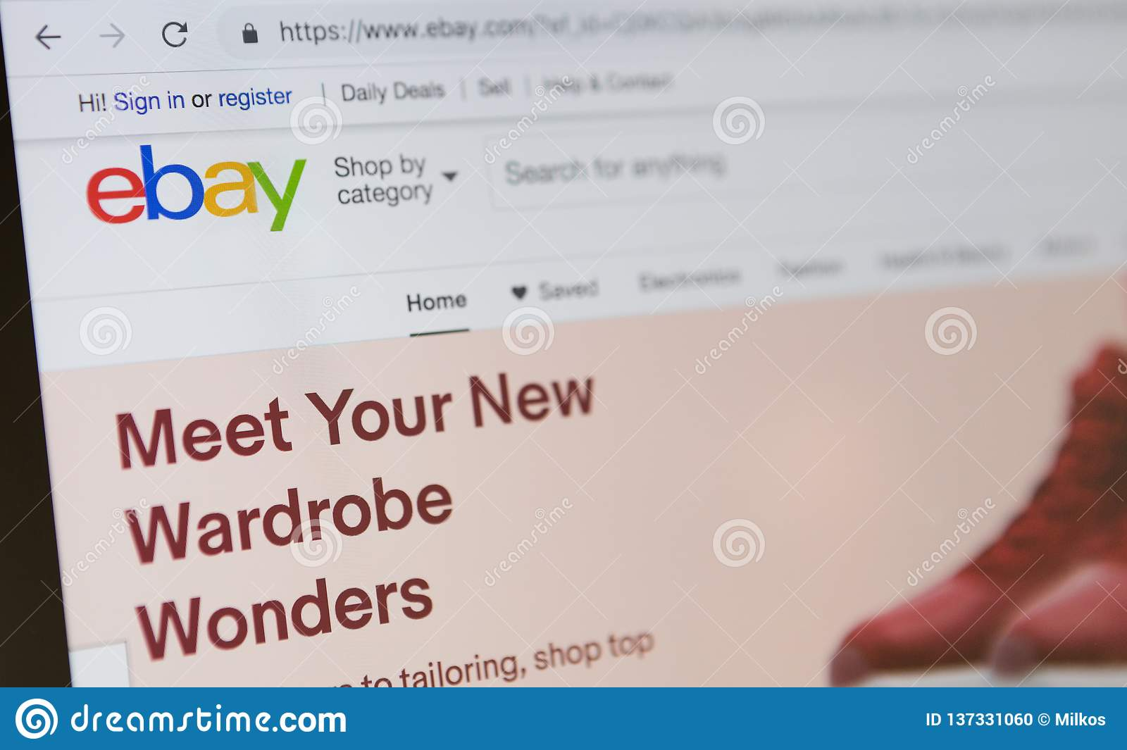 Homepage Of Official Website For Ebay Online Auction And Sales Website Editorial Image Image Of Internet Media 137331060