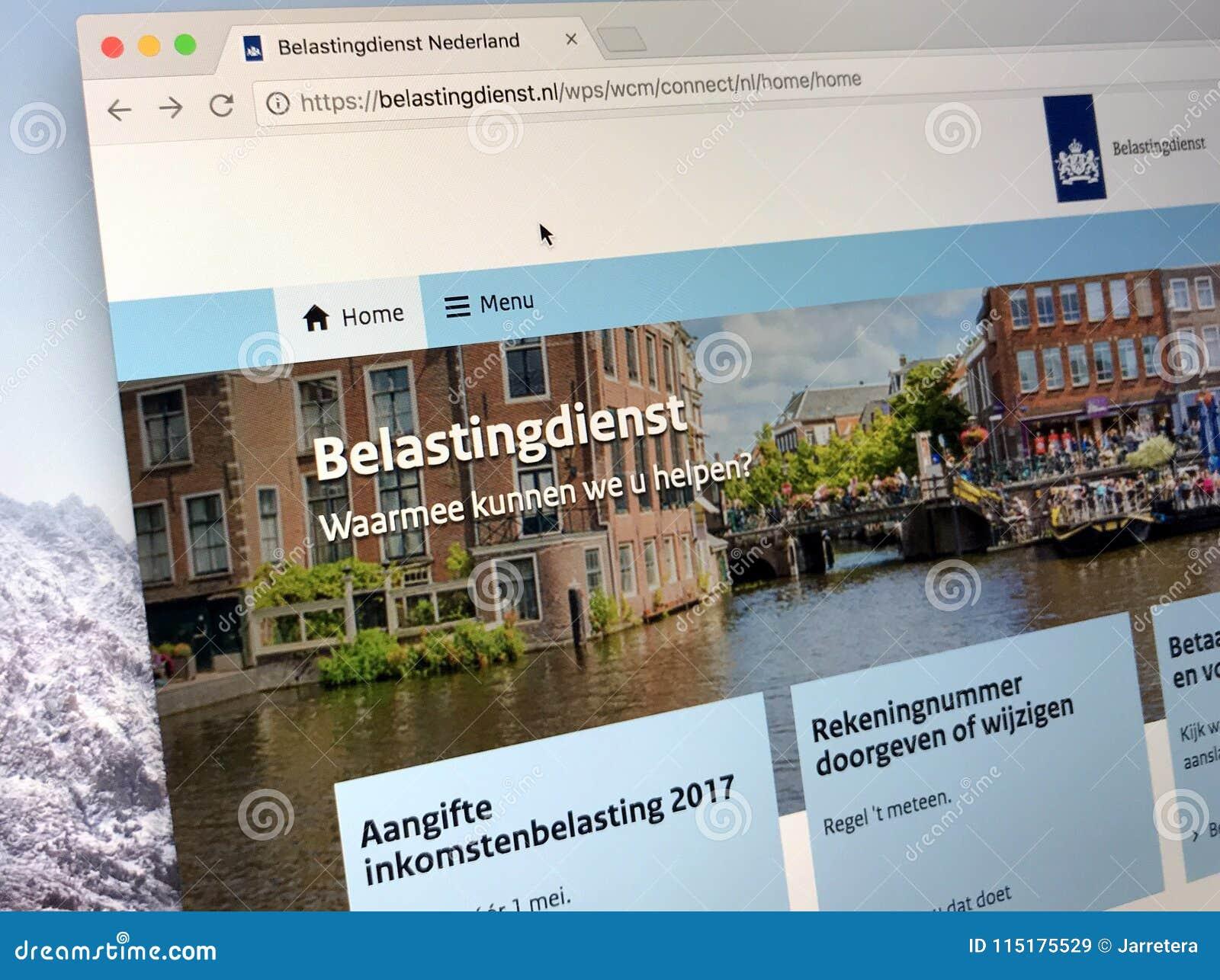 Homepage van de Nederlandse Belasting en de Douaneadministratie