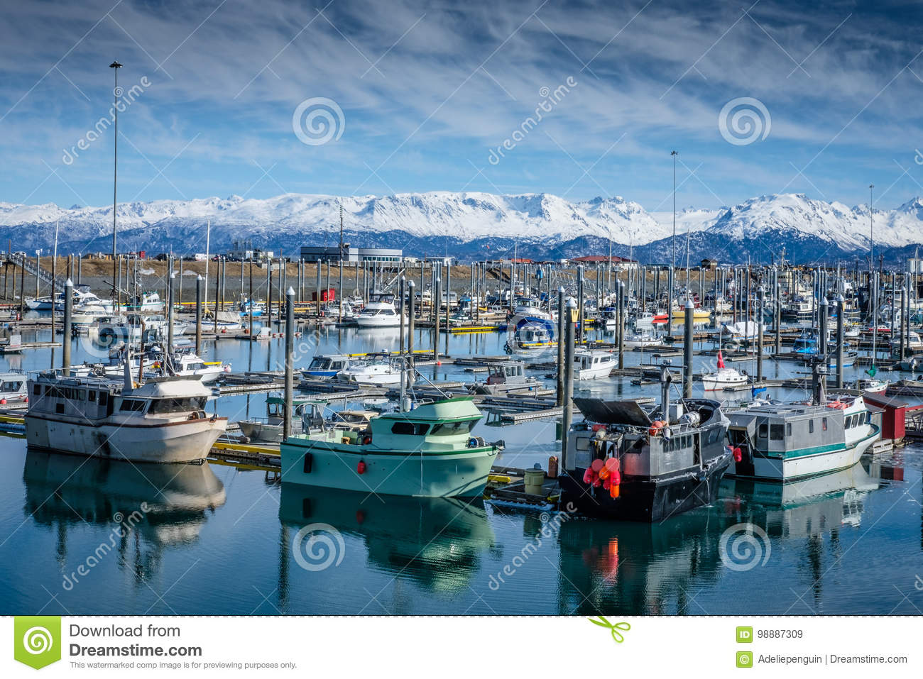 Homer Alaska Fishing Harbor