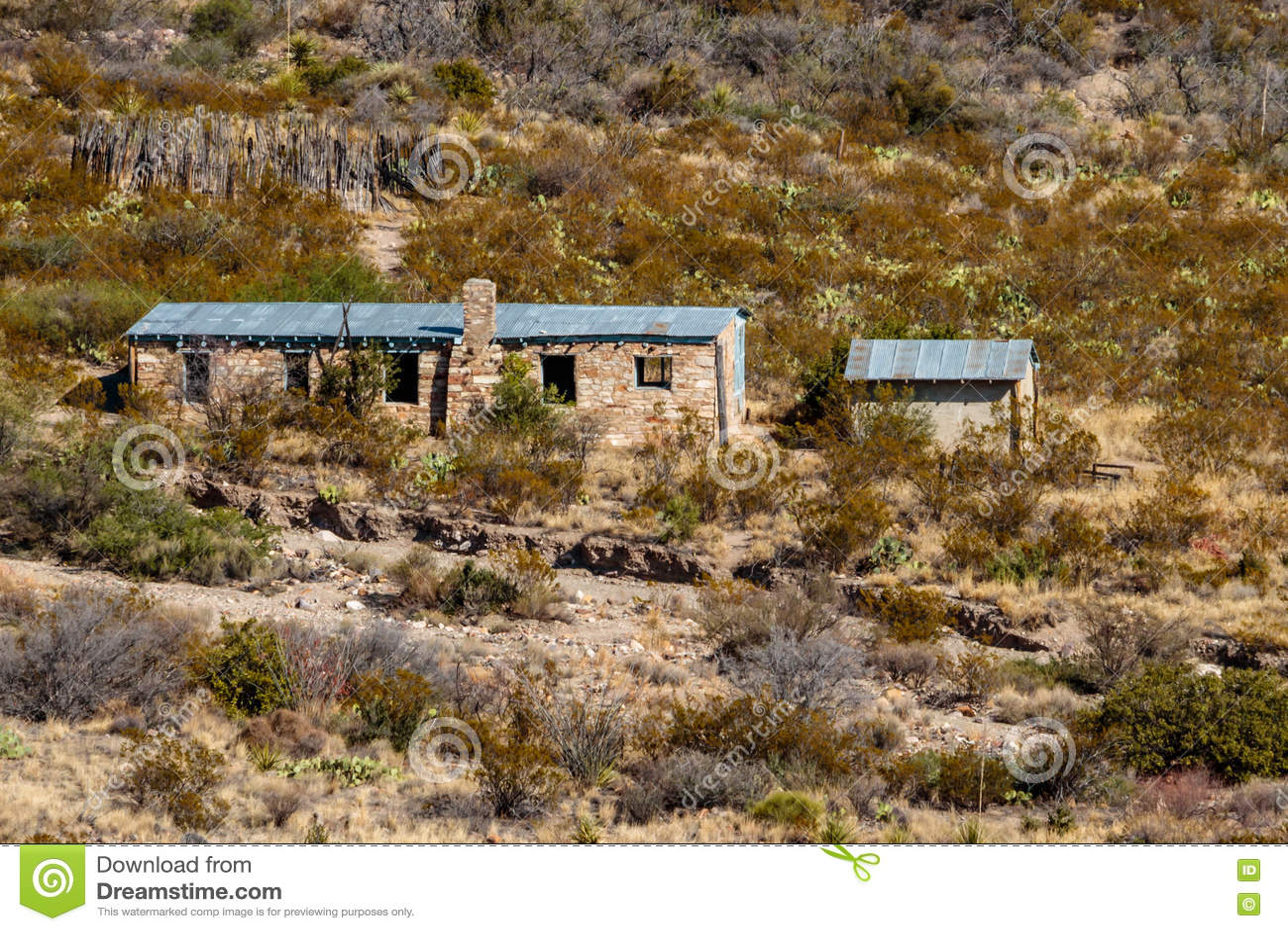 Homer Wilson Cabin i stor krökningnationalpark