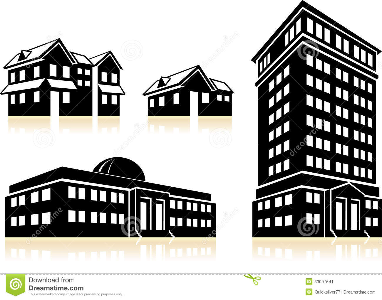 Homes And Buildings Stock Image Image 33007641