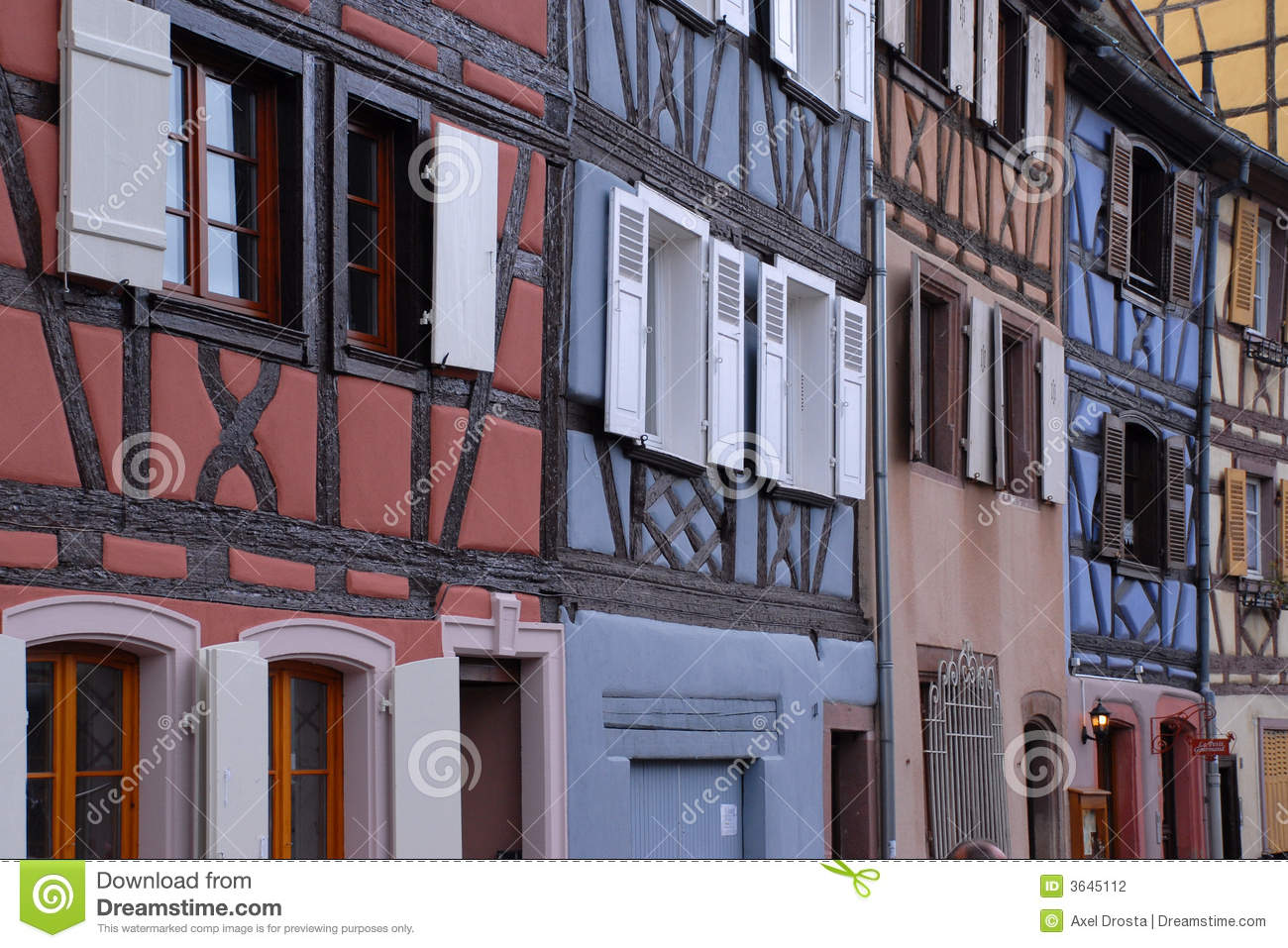 homes in colmar france stock photography image 3645112. Black Bedroom Furniture Sets. Home Design Ideas