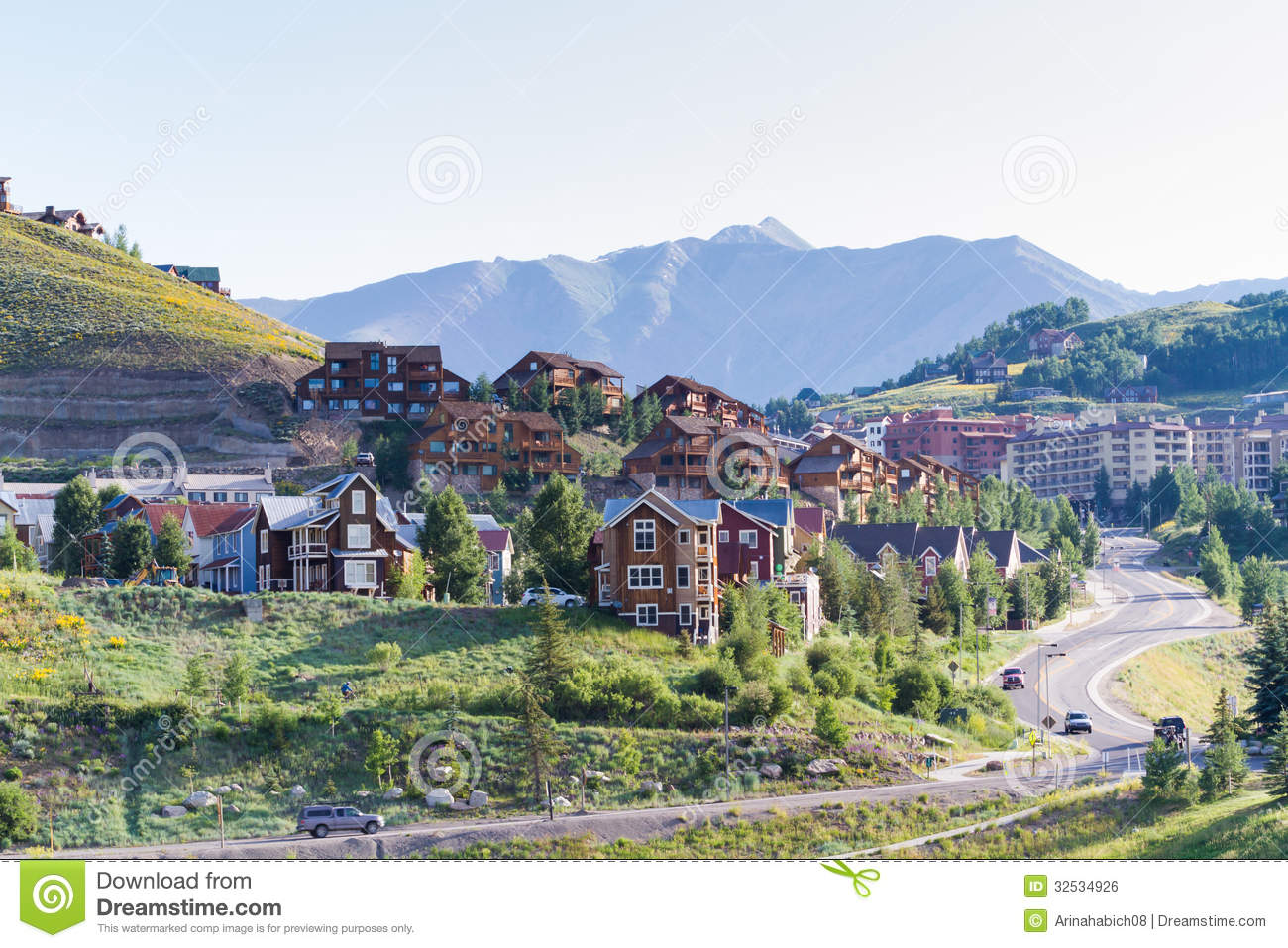 Homes royalty free stock image image 32534926 for Mountain home builders colorado