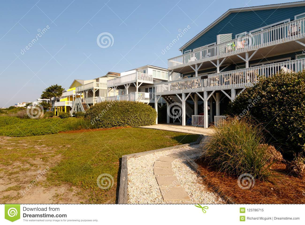 Homes For Rent On The Atlantic Ocean Stock Image - Image of