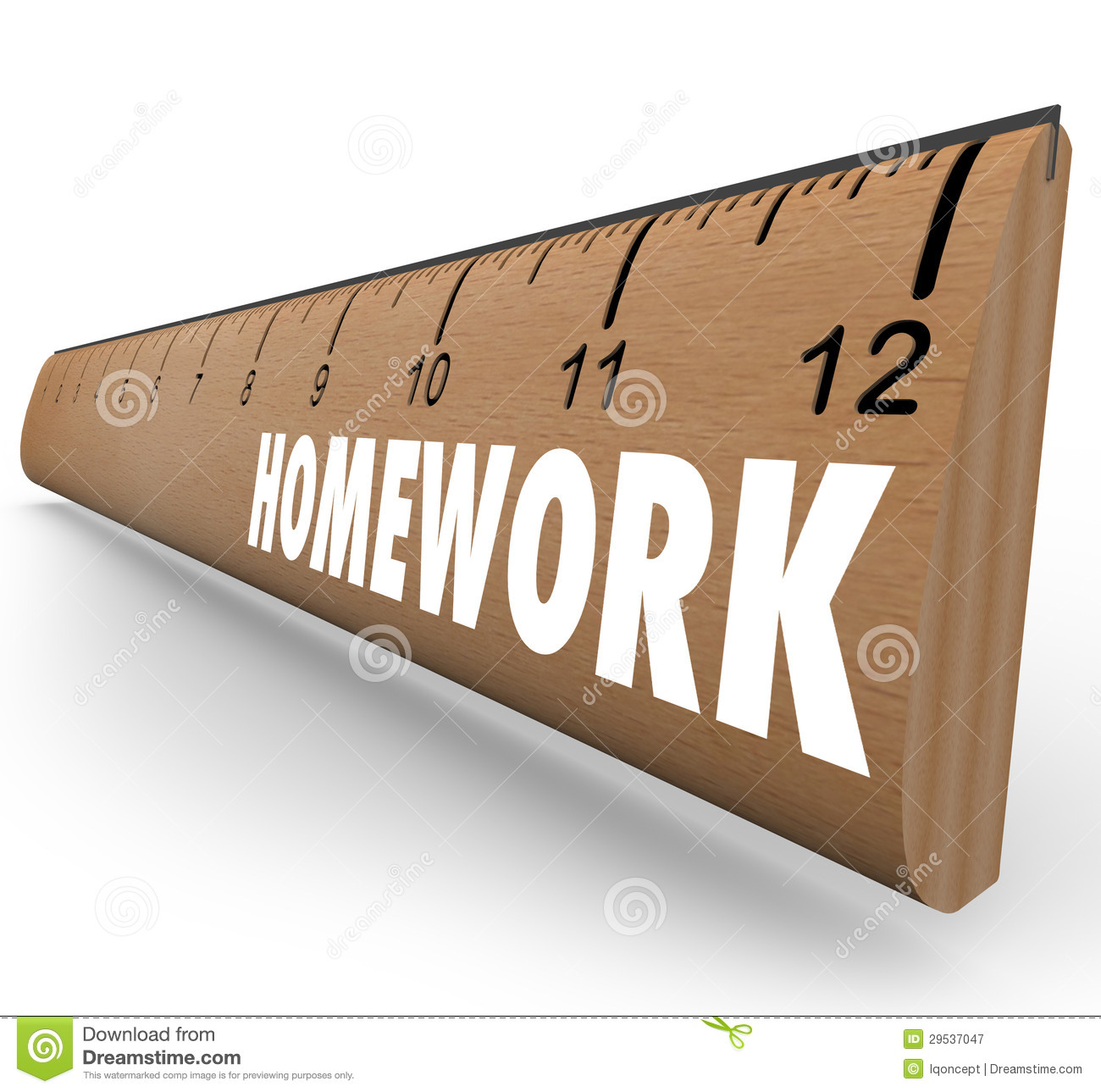 homework ruler assignment lesson project for school stock