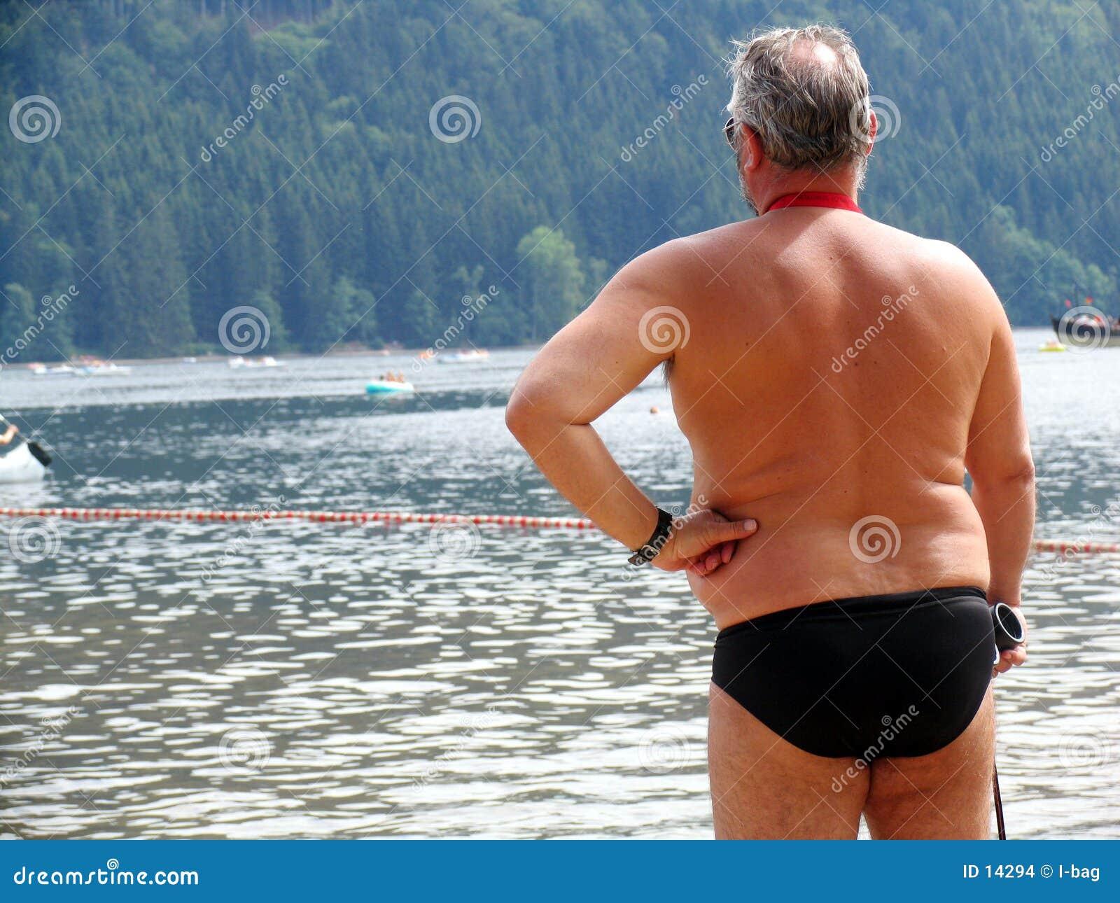 Homme à l eau