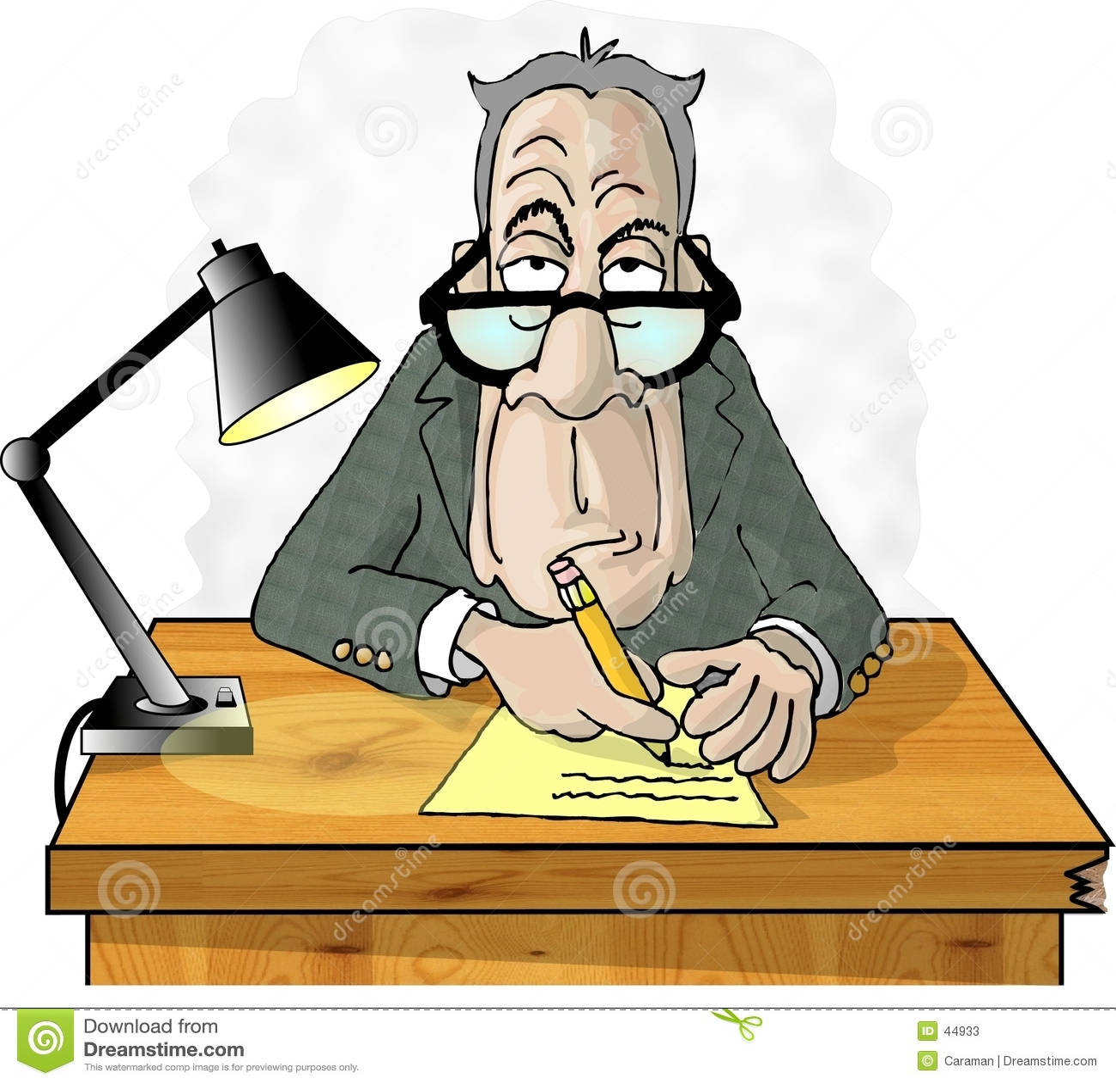 Homme à son bureau