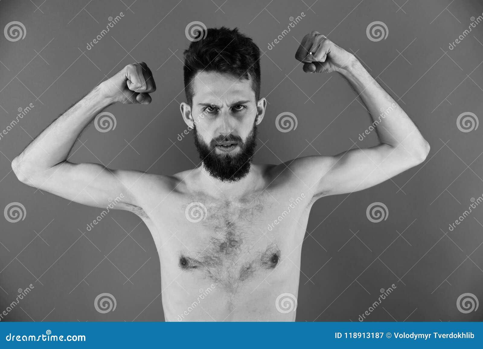 Homme Anorexique Photo homme anorexique homme mince ou type barbu de hippie avec l'anorexie