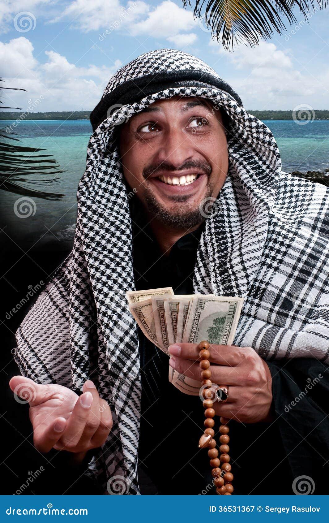 Homme arabe image stock. Image du ethnique, robe, copie - 36531367
